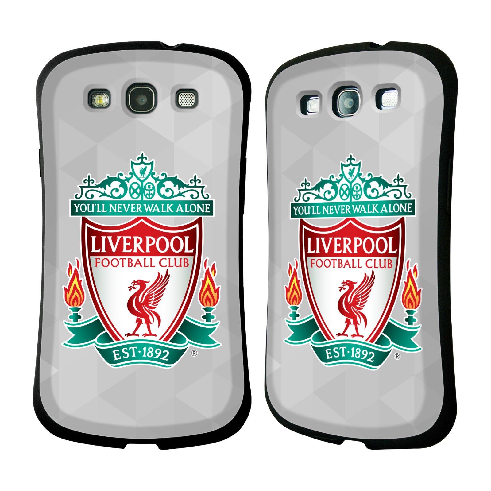 Nárazuvzdorné Plastové pouzdro na mobil Samsung Galaxy S3 Neo HEAD CASE ZNAK LIVERPOOL FC OFFICIAL GEOMETRIC WHITE (Odolný nárazuvzdorný silikonový kryt či obal na mobilní telefon Liverpool FC Official pro Samsung Galaxy S3 Neo GT-i9301i)