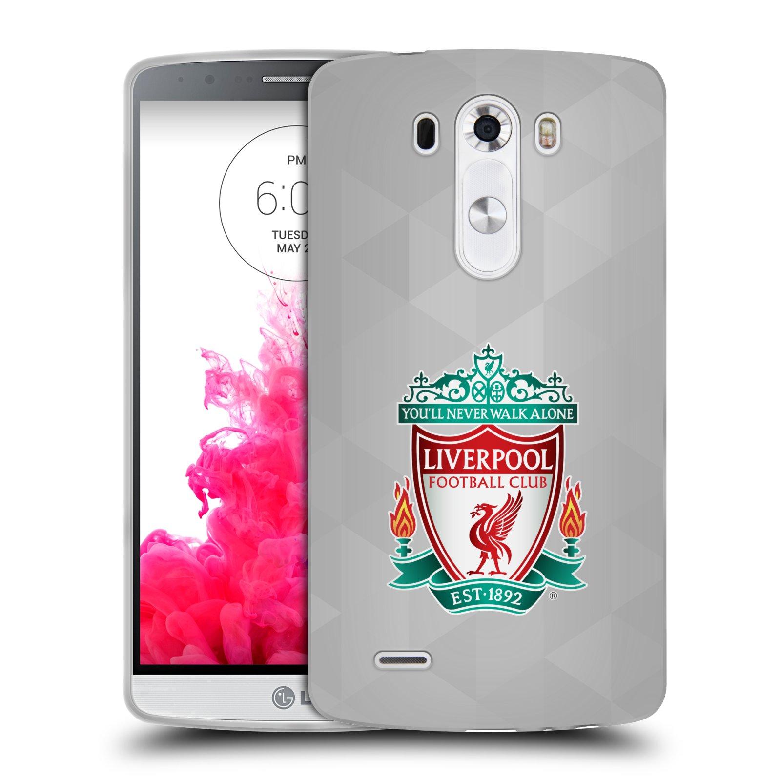 Silikonové pouzdro na mobil LG G3 HEAD CASE ZNAK LIVERPOOLFC OFFICIAL GEOM WHITE (Silikonový kryt či obal na mobilní telefon Liverpool FC Official pro LG G3)