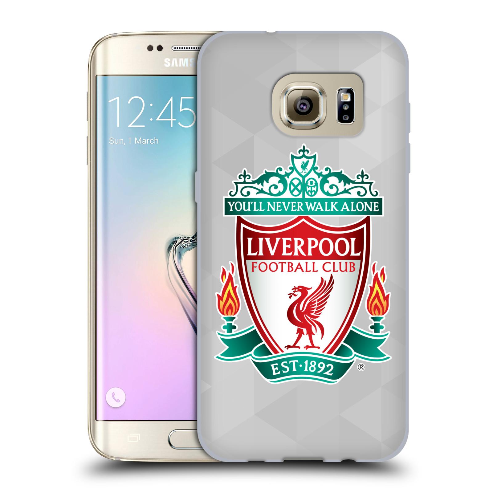 Silikonové pouzdro na mobil Samsung Galaxy S7 Edge HEAD CASE ZNAK LIVERPOOL FC OFFICIAL GEOMETRIC WHITE (Silikonový kryt či obal na mobilní telefon Liverpool FC Official pro Samsung Galaxy S7 Edge SM-G935F)