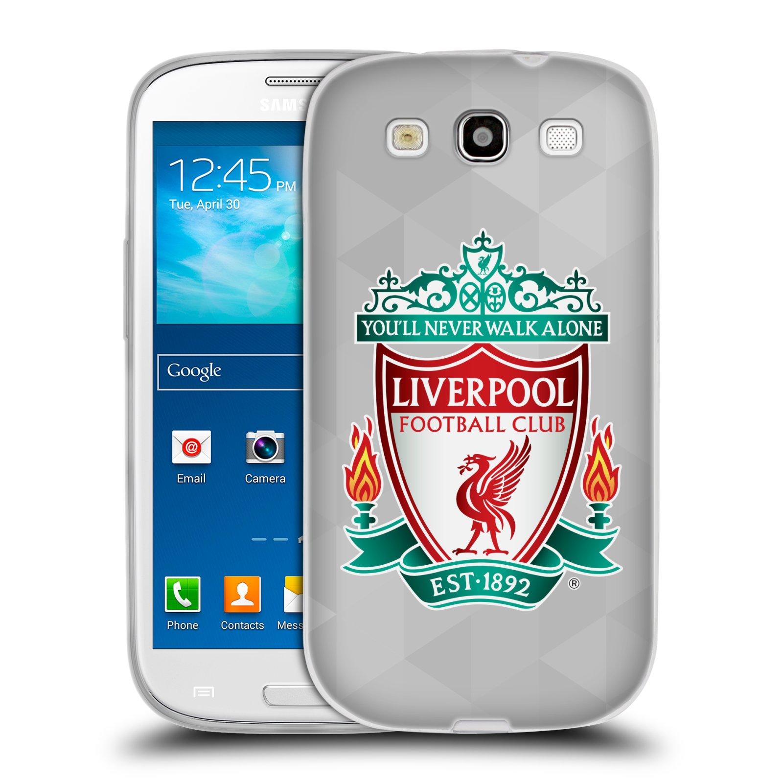 Silikonové pouzdro na mobil Samsung Galaxy S3 Neo HEAD CASE ZNAK LIVERPOOL FC OFFICIAL GEOMETRIC WHITE (Silikonový kryt či obal na mobilní telefon Liverpool FC Official pro Samsung Galaxy S3 Neo GT-i9301i)