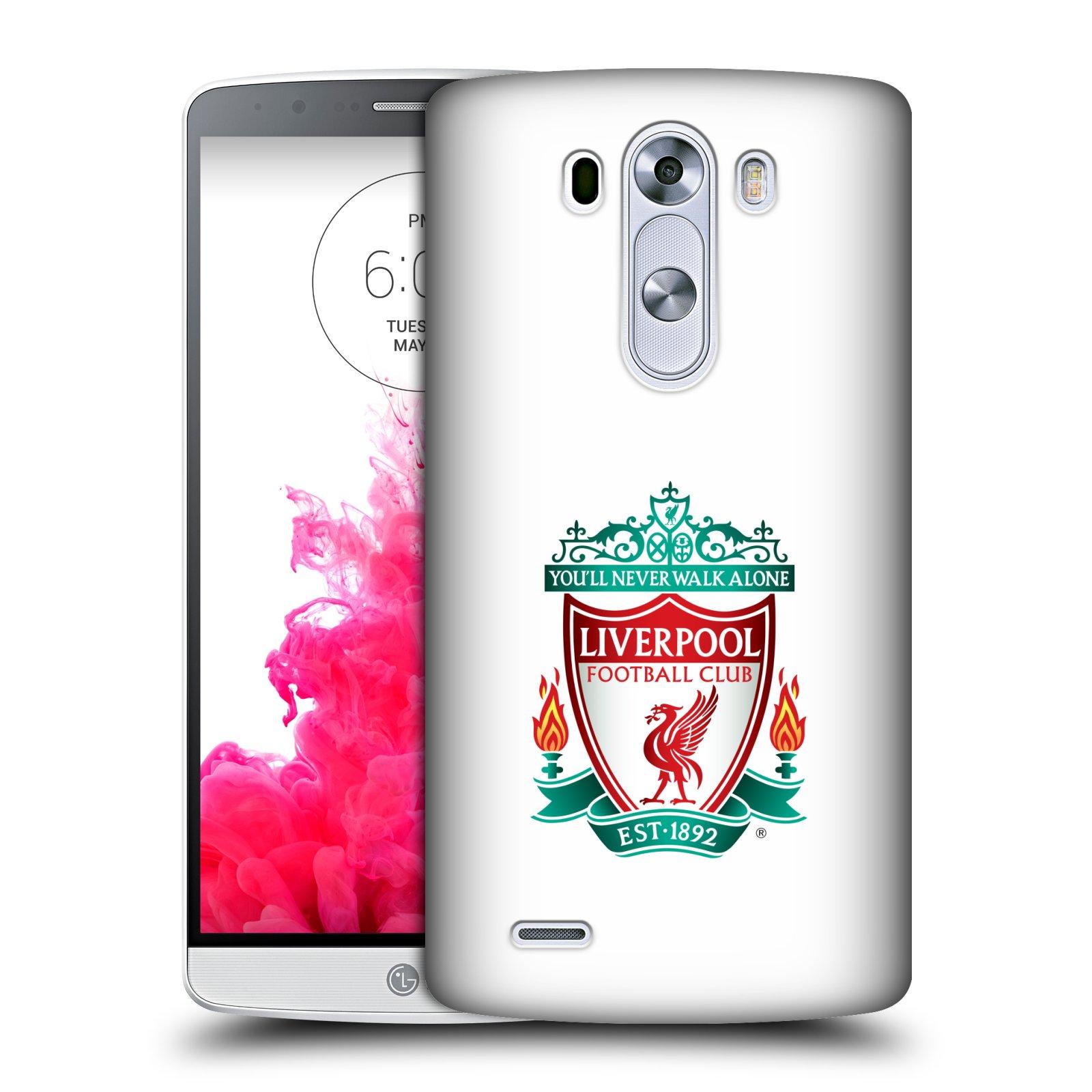 Plastové pouzdro na mobil LG G3 HEAD CASE ZNAK LIVERPOOL FC OFFICIAL WHITE (Kryt či obal na mobilní telefon Liverpool FC Official pro LG G3)