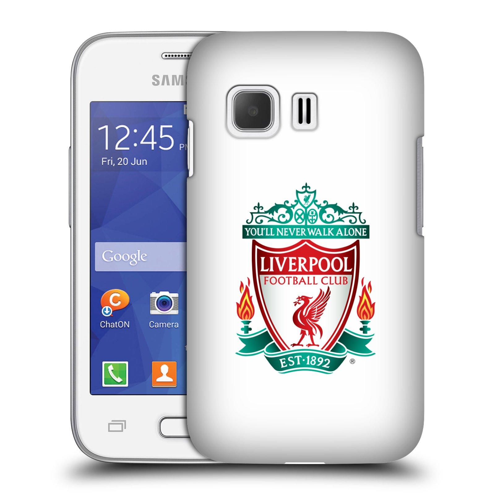 Plastové pouzdro na mobil Samsung Galaxy Young 2 HEAD CASE ZNAK LIVERPOOL FC OFFICIAL WHITE (Kryt či obal na mobilní telefon Liverpool FC Official pro Samsung Galaxy Young 2 SM-G130)