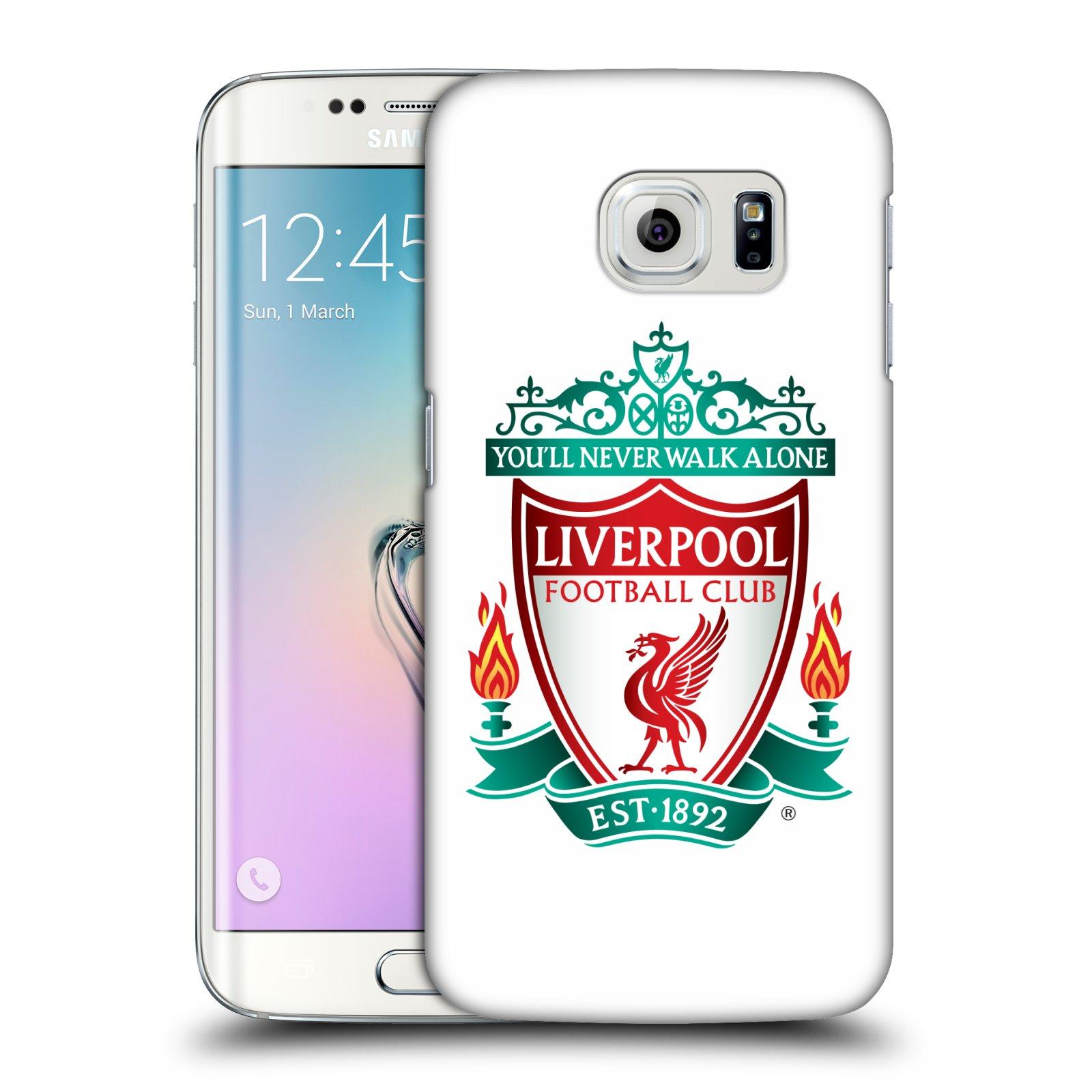 Plastové pouzdro na mobil Samsung Galaxy S6 Edge HEAD CASE ZNAK LIVERPOOL FC OFFICIAL WHITE (Kryt či obal na mobilní telefon Liverpool FC Official pro Samsung Galaxy S6 Edge SM-G925F)
