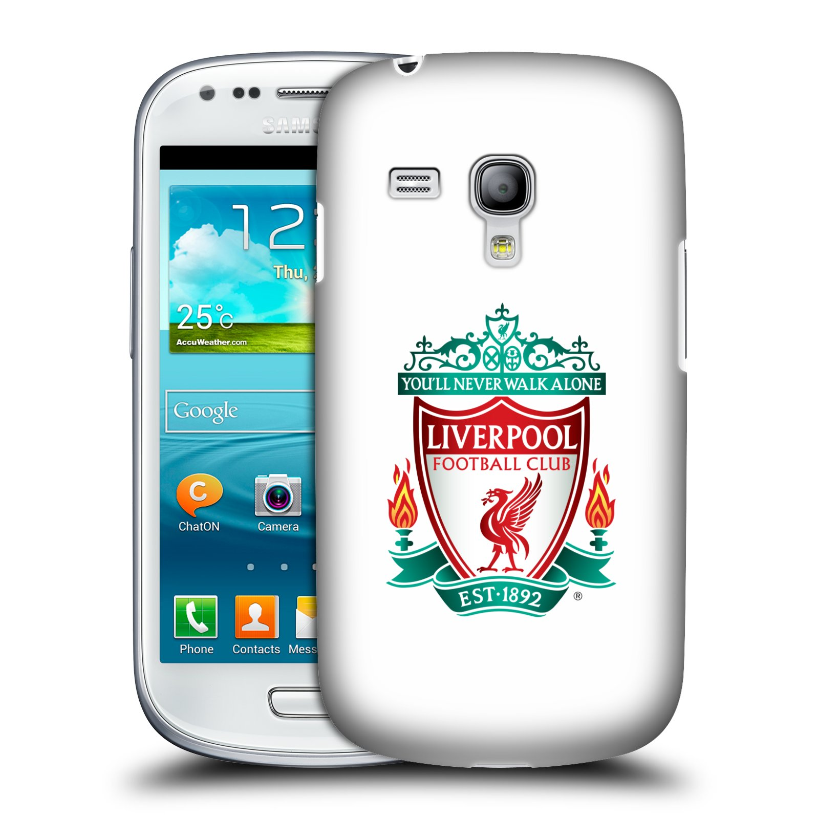 Plastové pouzdro na mobil Samsung Galaxy S3 Mini VE HEAD CASE ZNAK LIVERPOOL FC OFFICIAL WHITE (Kryt či obal na mobilní telefon Liverpool FC Official pro Samsung Galaxy S3 Mini VE GT-i8200)
