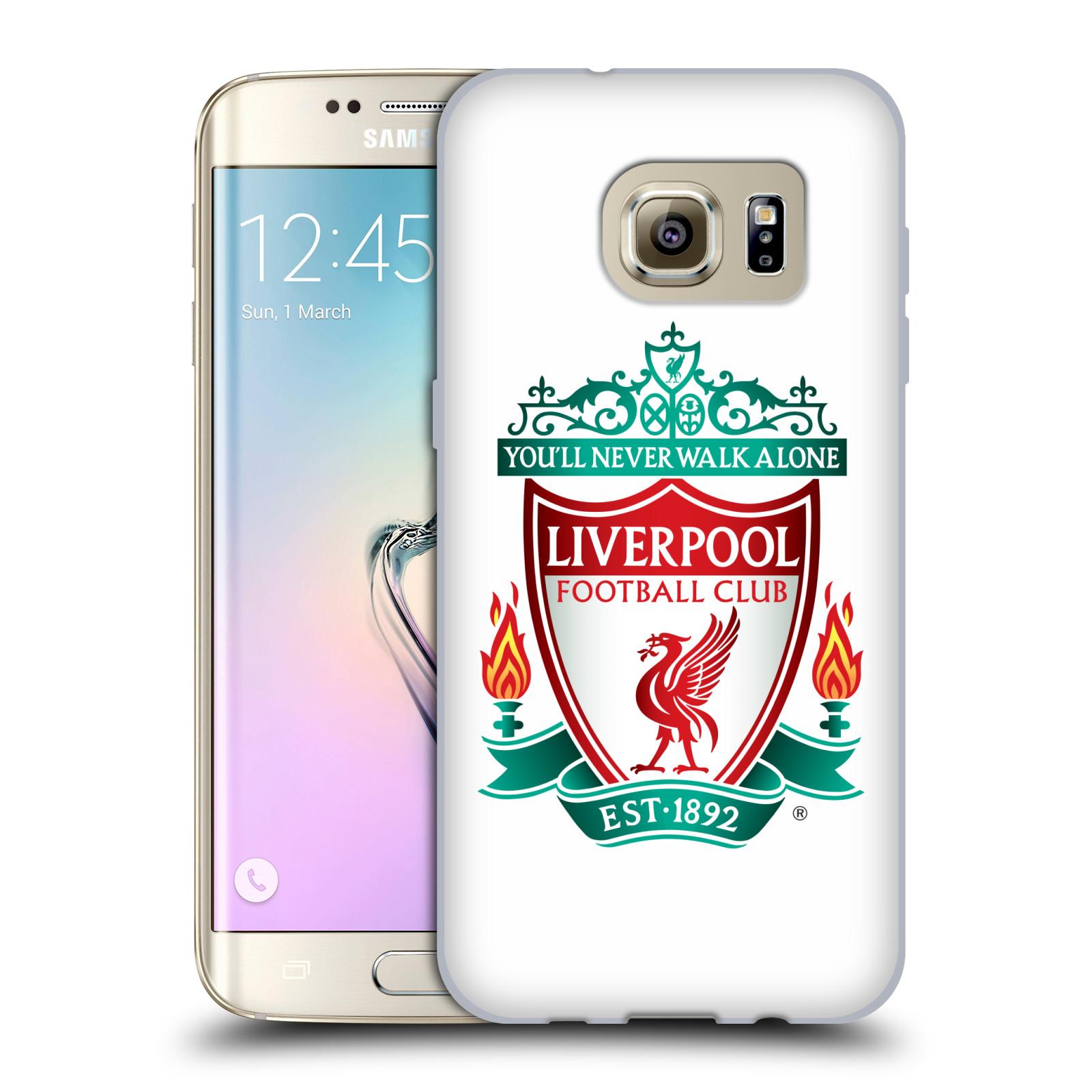 Silikonové pouzdro na mobil Samsung Galaxy S7 Edge HEAD CASE ZNAK LIVERPOOL FC OFFICIAL WHITE (Silikonový kryt či obal na mobilní telefon Liverpool FC Official pro Samsung Galaxy S7 Edge SM-G935F)