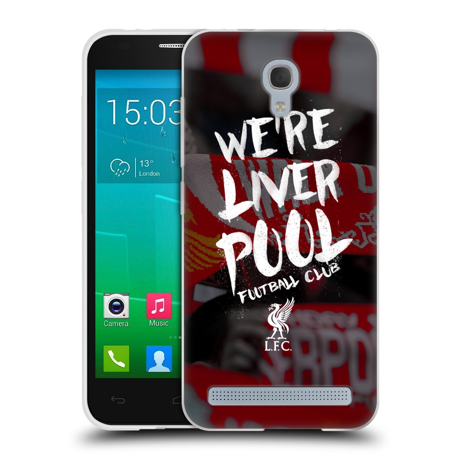 Silikonové pouzdro na mobil Alcatel One Touch Idol 2 Mini S 6036Y HEAD CASE We're Liverpool (Silikonový kryt či obal na mobilní telefon Liverpool FC Official pro Alcatel Idol 2 Mini S OT-6036Y)