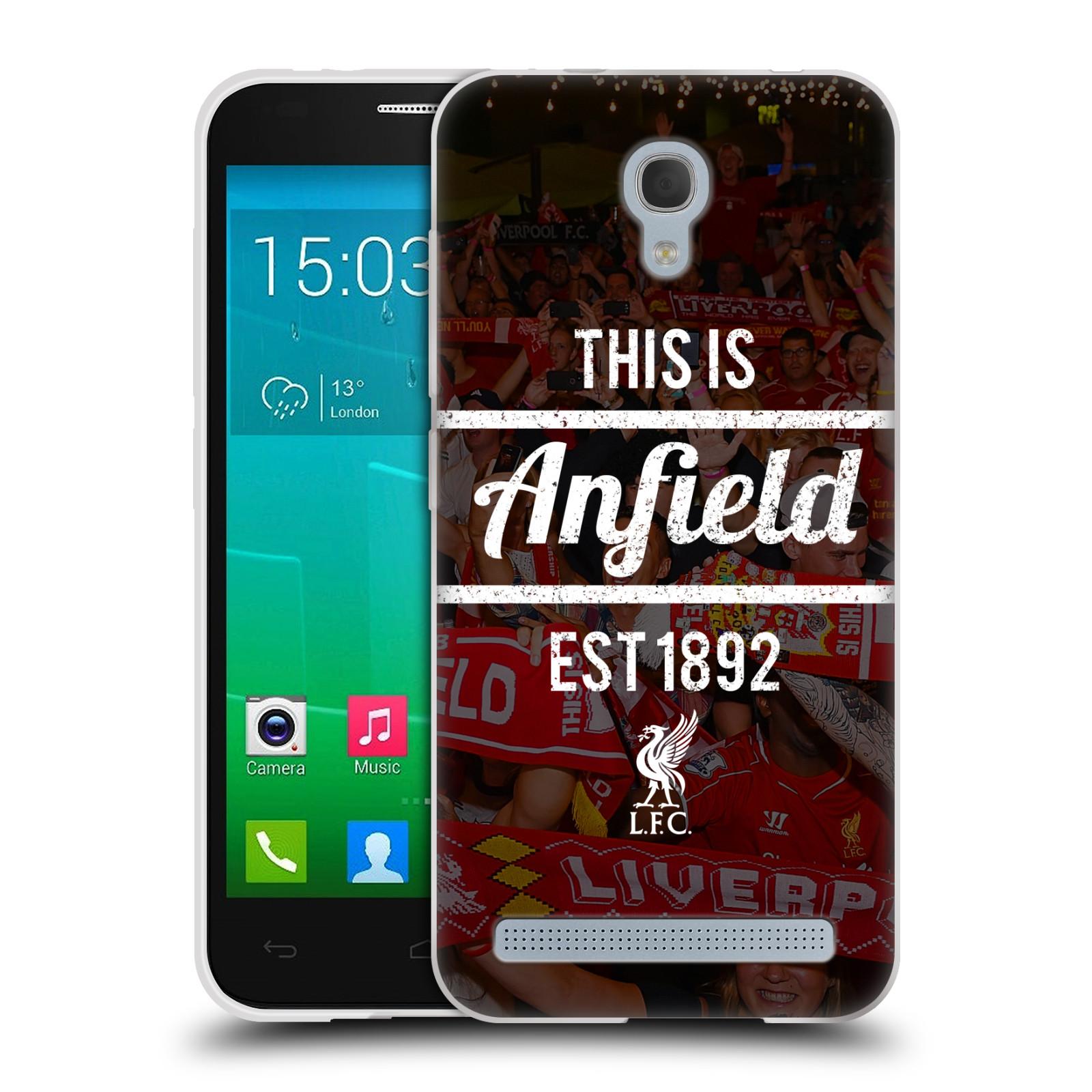 Silikonové pouzdro na mobil Alcatel One Touch Idol 2 Mini S 6036Y HEAD CASE LFC This Is Anfield (Silikonový kryt či obal na mobilní telefon Liverpool FC Official pro Alcatel Idol 2 Mini S OT-6036Y)