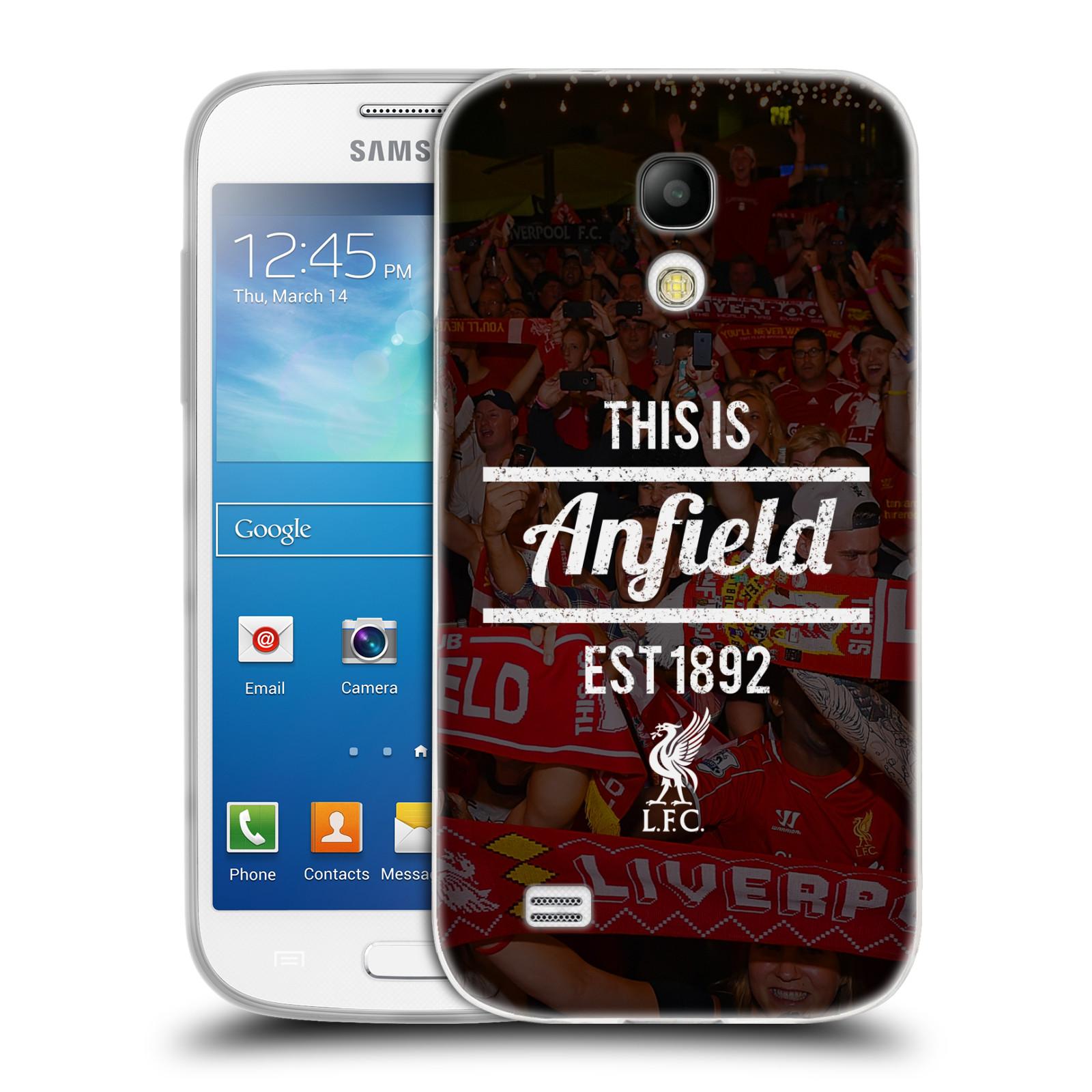 Silikonové pouzdro na mobil Samsung Galaxy S4 Mini VE HEAD CASE LFC This Is Anfield (Silikonový kryt či obal na mobilní telefon Liverpool FC Official pro Samsung Galaxy S4 Mini VE GT-i9195i)