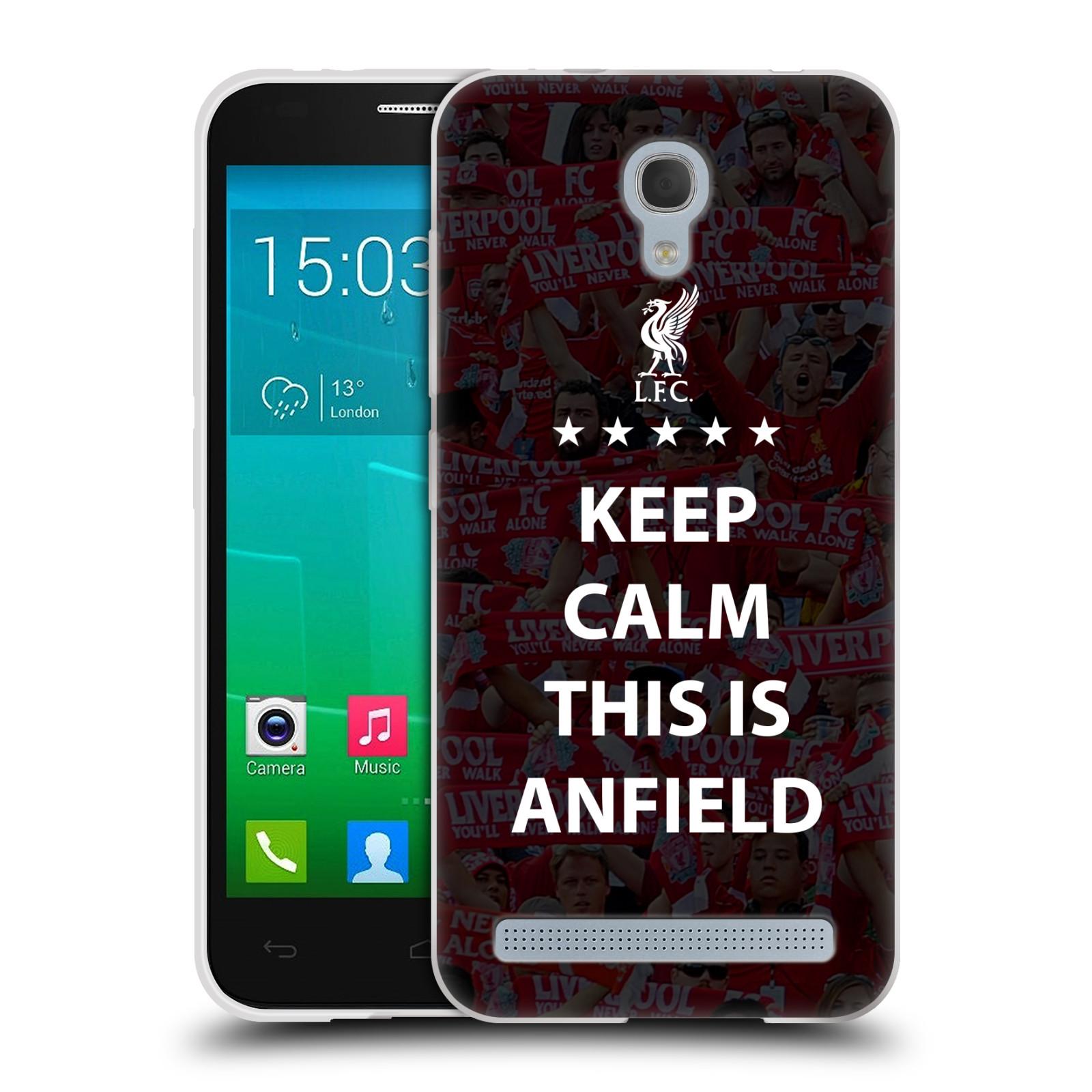 Silikonové pouzdro na mobil Alcatel One Touch Idol 2 Mini S 6036Y HEAD CASE Keep Calm This Is Anfield (Silikonový kryt či obal na mobilní telefon Liverpool FC Official pro Alcatel Idol 2 Mini S OT-6036Y)