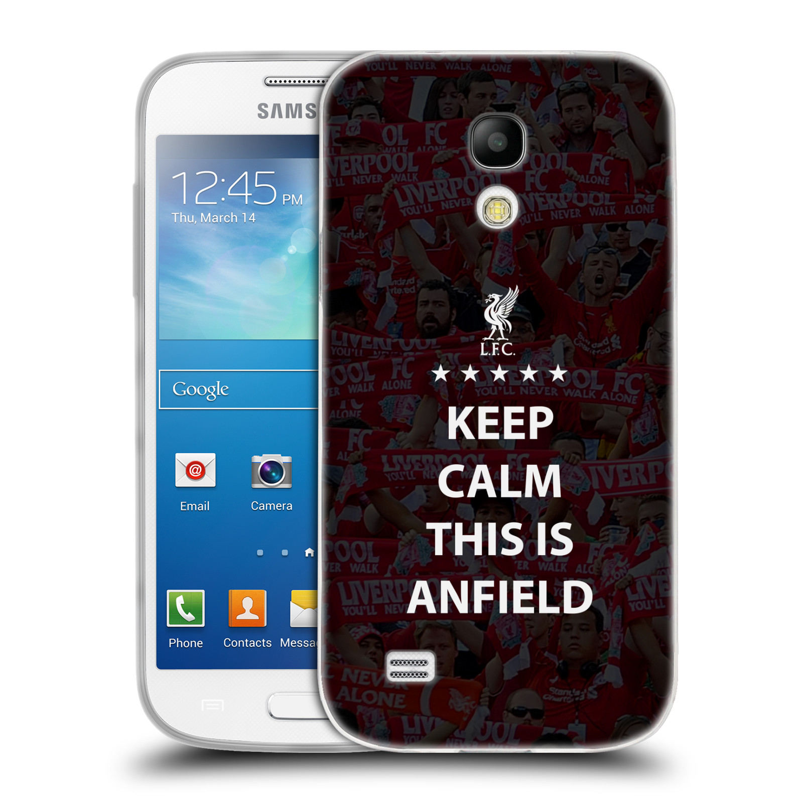 Silikonové pouzdro na mobil Samsung Galaxy S4 Mini VE HEAD CASE Keep Calm This Is Anfield (Silikonový kryt či obal na mobilní telefon Liverpool FC Official pro Samsung Galaxy S4 Mini VE GT-i9195i)