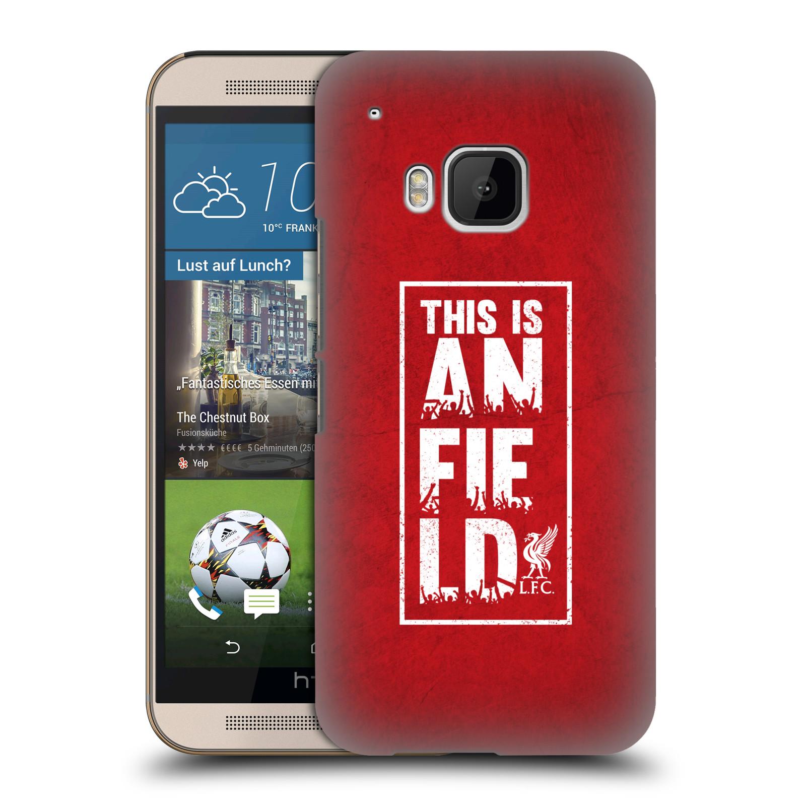 Plastové pouzdro na mobil HTC ONE M9 HEAD CASE Liverpool FC This Is Anfield Red (Kryt či obal na mobilní telefon Liverpool FC Official pro HTC ONE M9)