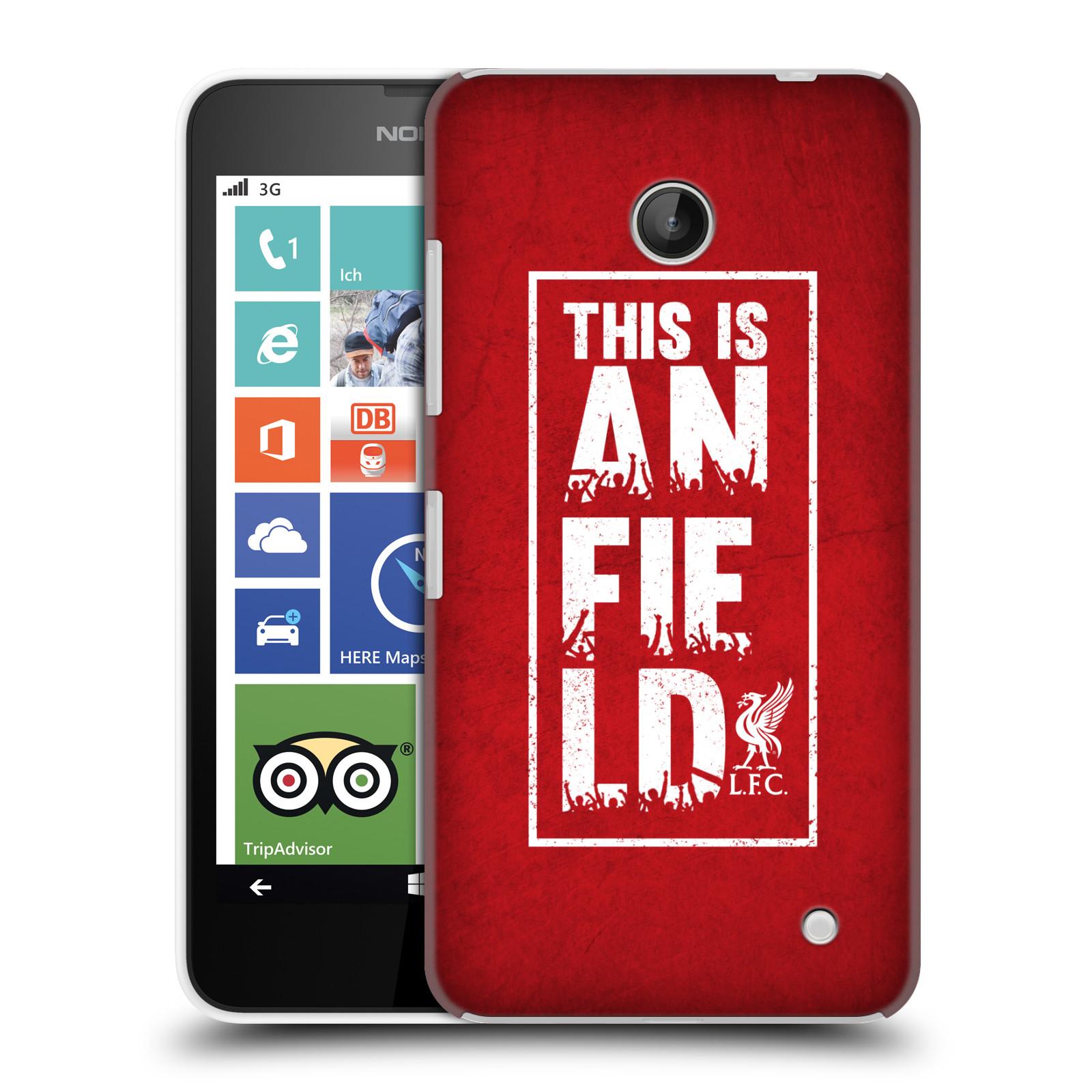 Plastové pouzdro na mobil Nokia Lumia 630 HEAD CASE Liverpool FC This Is Anfield Red (Kryt či obal na mobilní telefon Liverpool FC Official pro Nokia Lumia 630 a Nokia Lumia 630 Dual SIM)