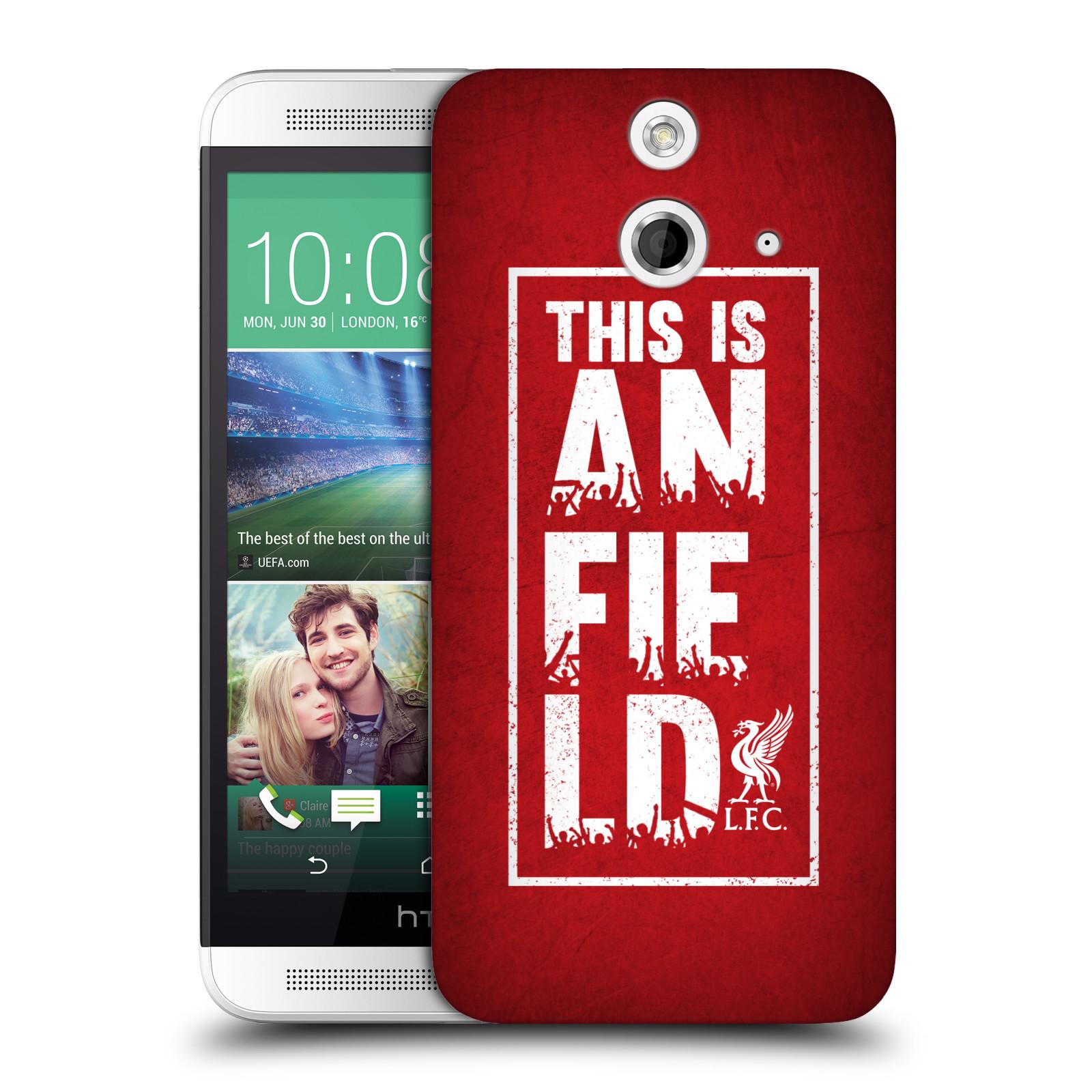 Plastové pouzdro na mobil HTC ONE E8 HEAD CASE Liverpool FC This Is Anfield Red (Kryt či obal na mobilní telefon Liverpool FC Official pro HTC ONE E8)