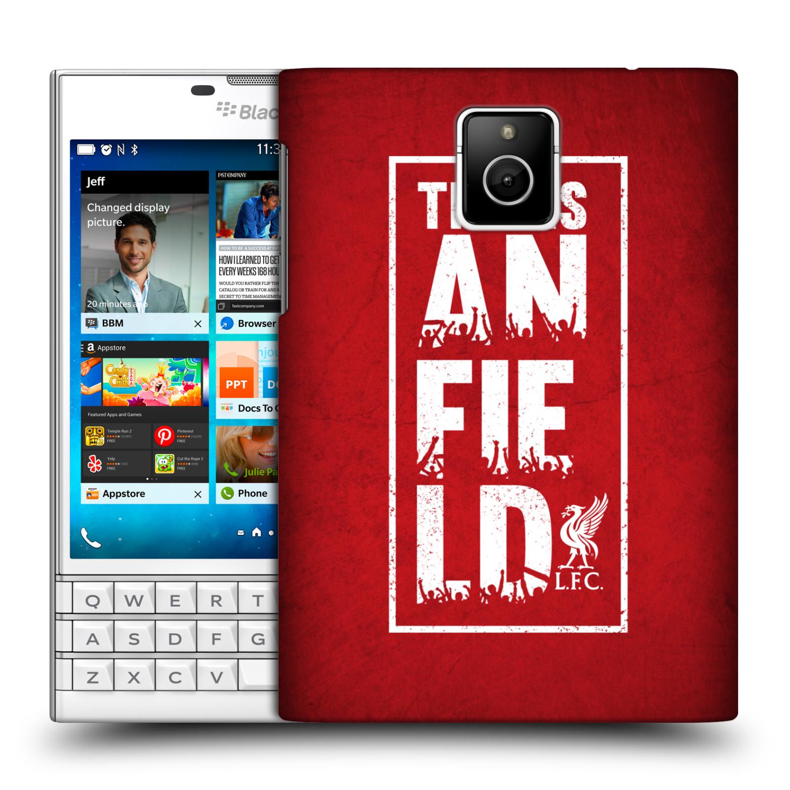 Plastové pouzdro na mobil Blackberry PASSPORT HEAD CASE Liverpool FC This Is Anfield Red (Kryt či obal na mobilní telefon Liverpool FC Official pro Blackberry PASSPORT)