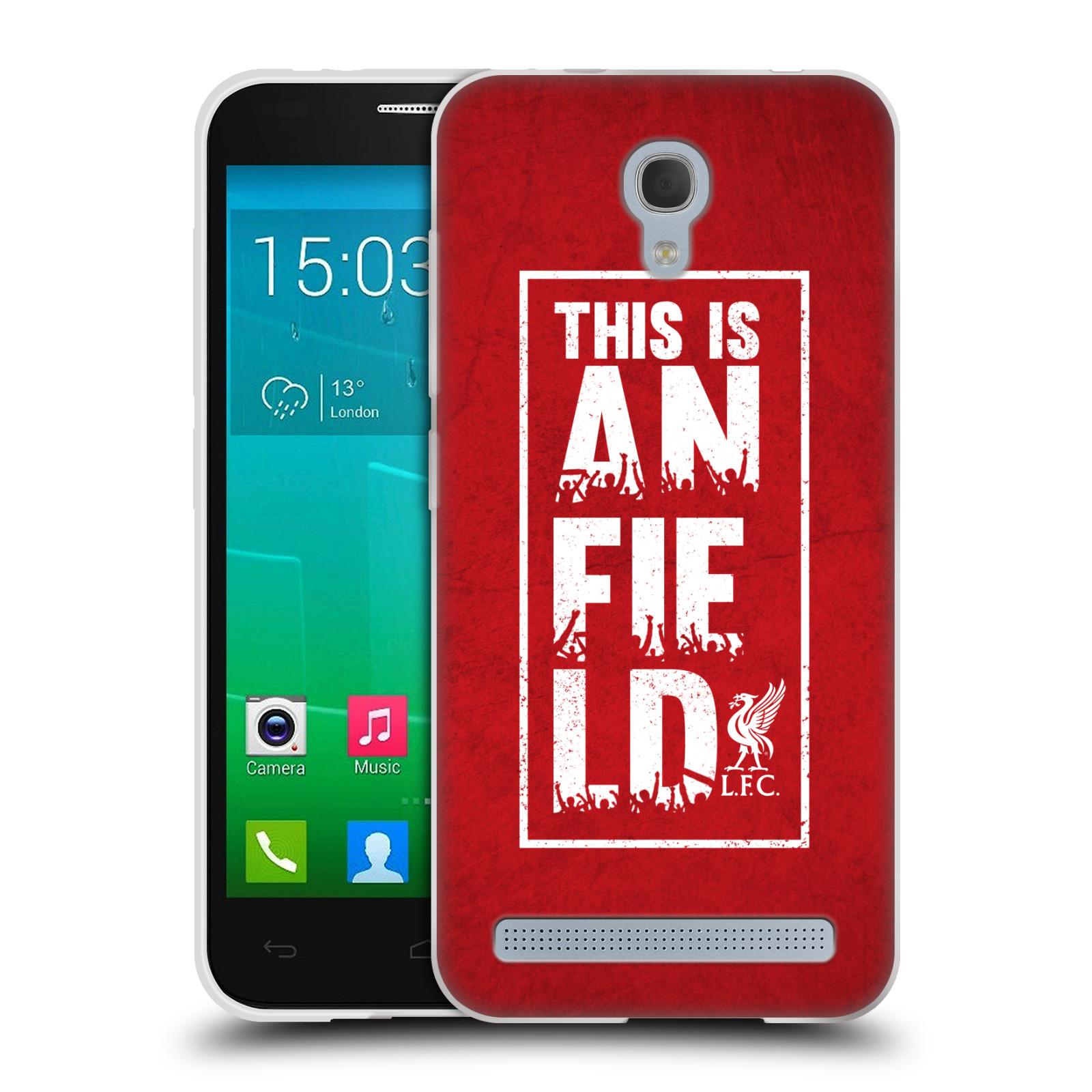 Silikonové pouzdro na mobil Alcatel One Touch Idol 2 Mini S 6036Y HEAD CASE Liverpool FC This Is Anfield Red (Silikonový kryt či obal na mobilní telefon Liverpool FC Official pro Alcatel Idol 2 Mini S OT-6036Y)