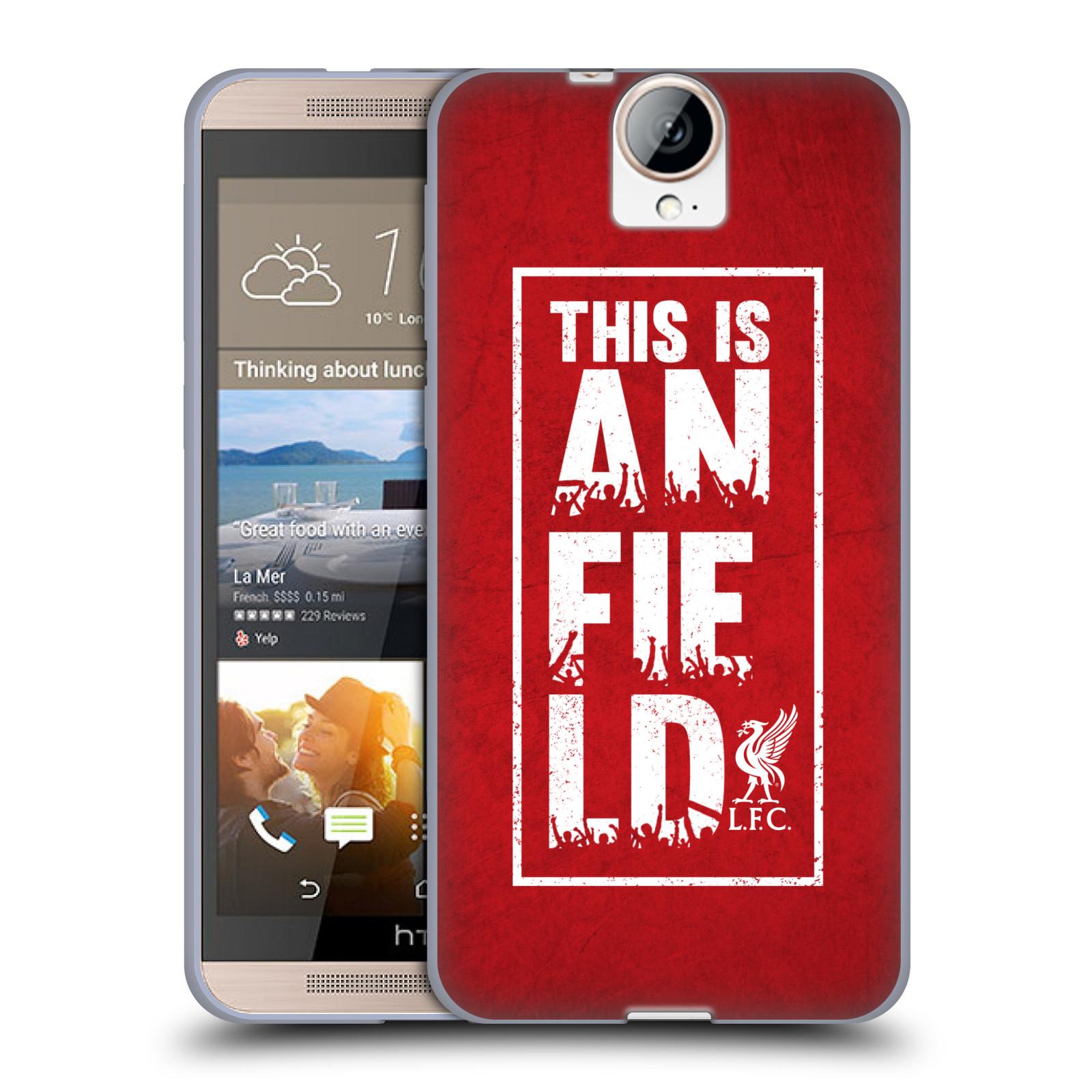 Silikonové pouzdro na mobil HTC One E9+(Plus) HEAD CASE Liverpool FC This Is Anfield Red (Silikonový kryt či obal na mobilní telefon Liverpool FC Official pro HTC One E9+)