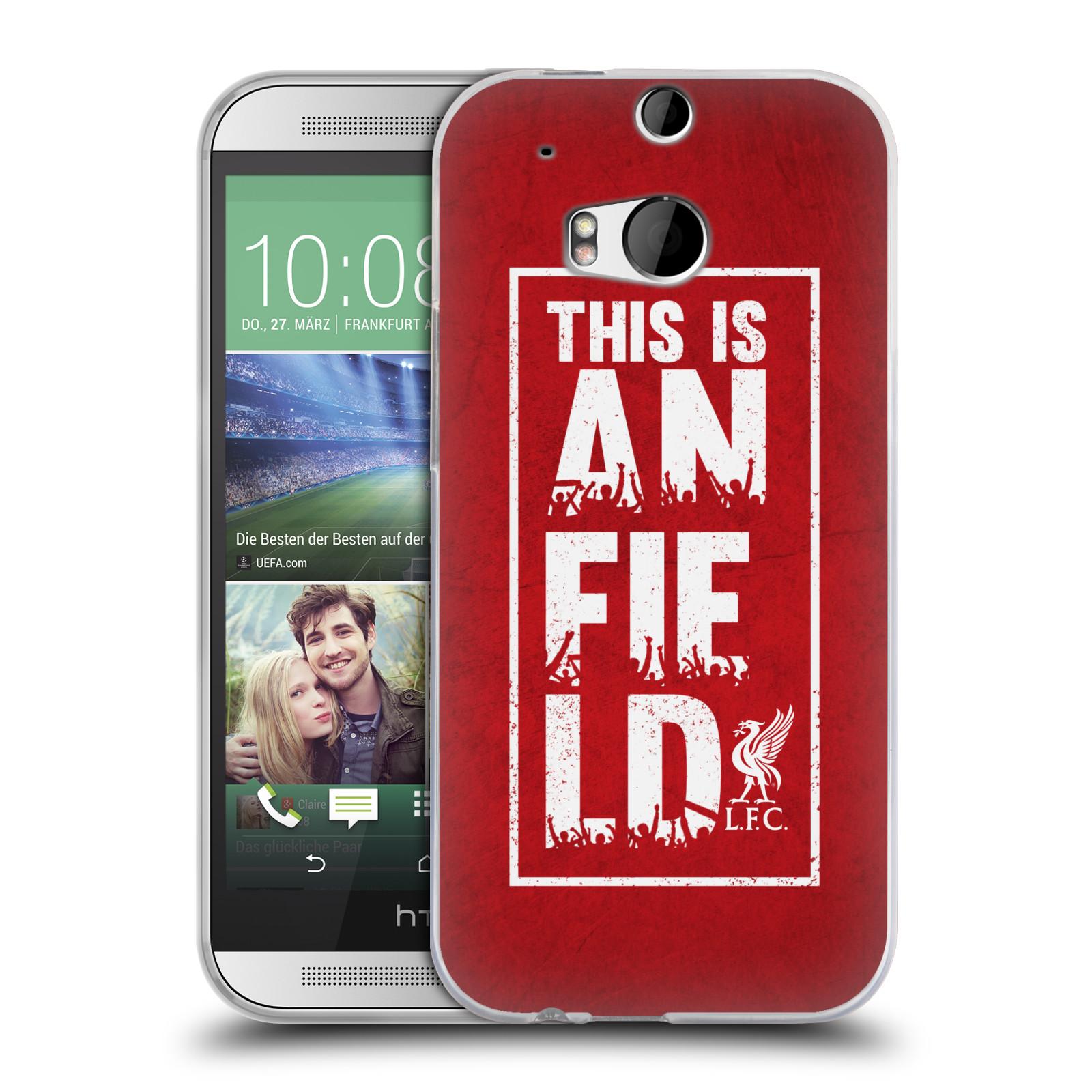 Silikonové pouzdro na mobil HTC ONE M8 HEAD CASE Liverpool FC This Is Anfield Red (Silikonový kryt či obal na mobilní telefon Liverpool FC Official pro HTC ONE M8)
