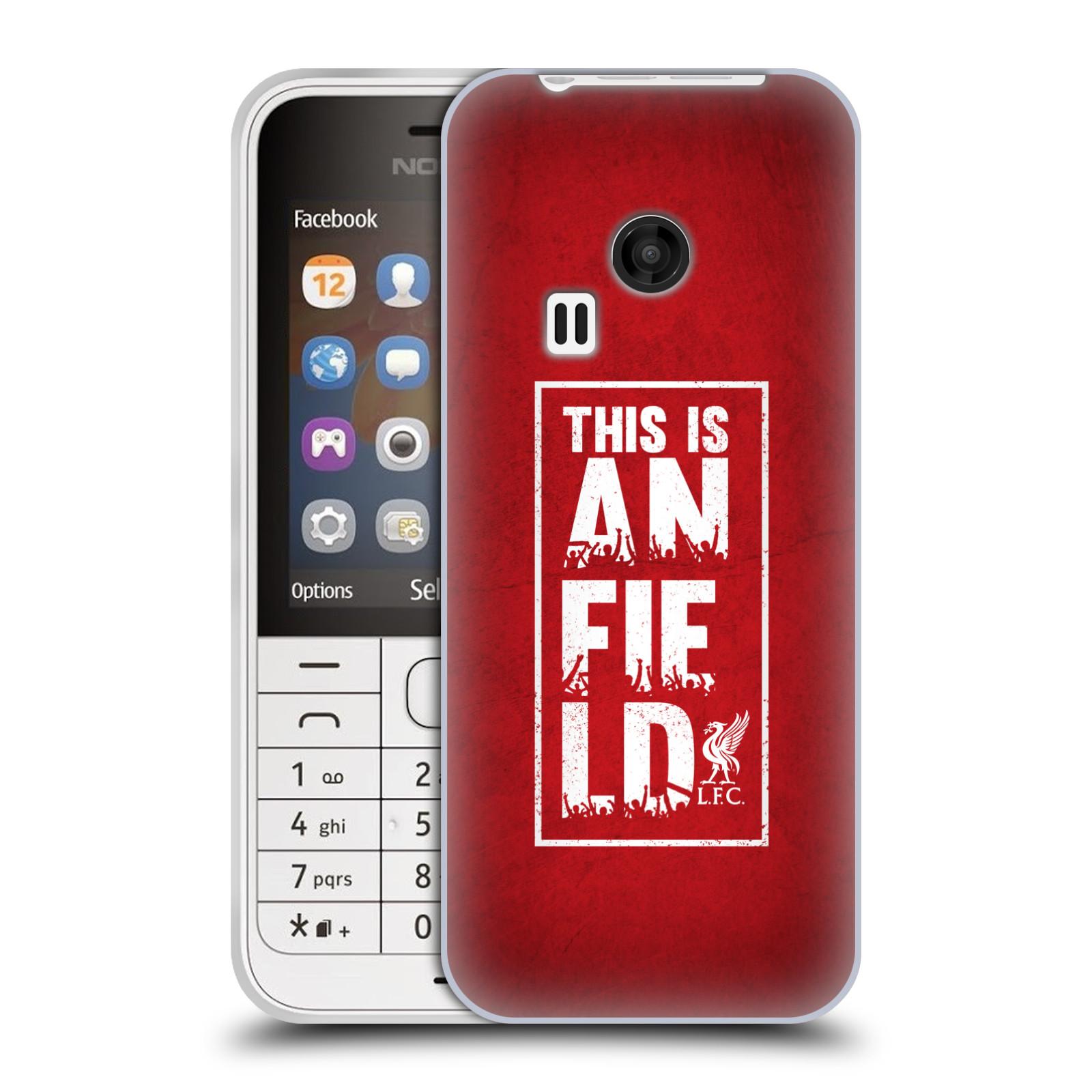 Silikonové pouzdro na mobil Nokia 220 HEAD CASE Liverpool FC This Is Anfield Red (Silikonový kryt či obal na mobilní telefon Liverpool FC Official pro Nokia 220 a 220 Dual SIM)