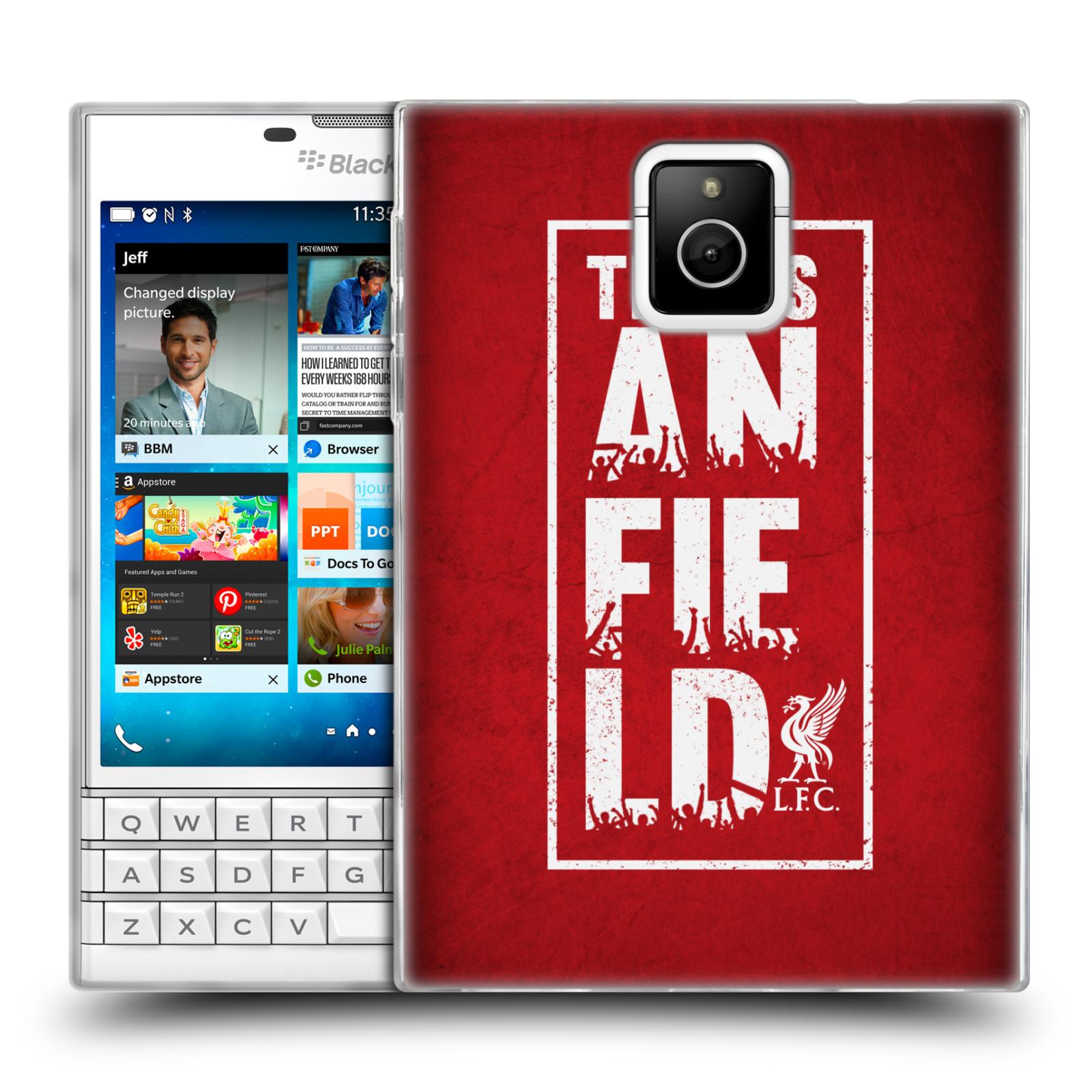 Silikonové pouzdro na mobil Blackberry PASSPORT HEAD CASE Liverpool FC This Is Anfield Red (Silikonový kryt či obal na mobilní telefon Liverpool FC Official pro Blackberry PASSPORT)