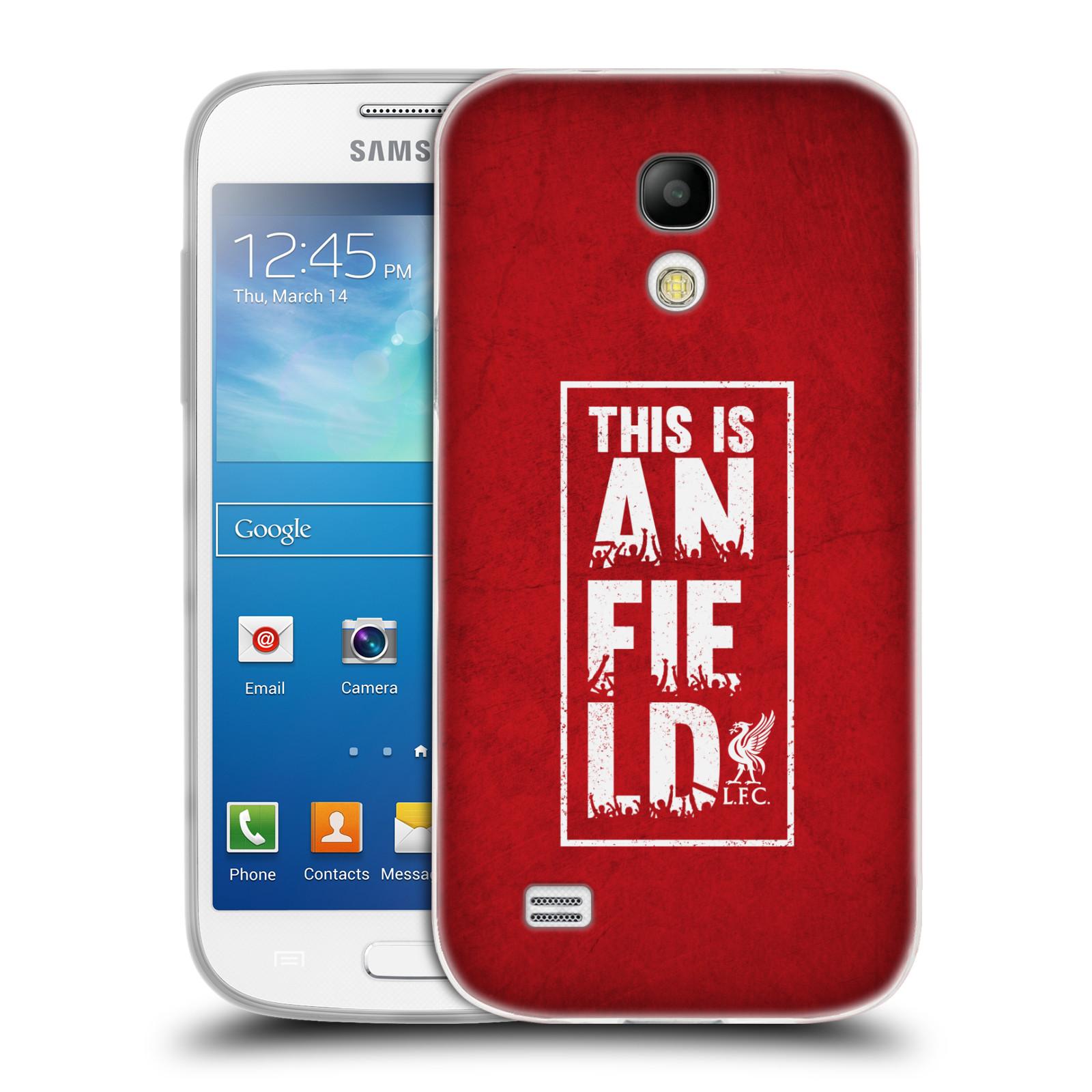 Silikonové pouzdro na mobil Samsung Galaxy S4 Mini HEAD CASE Liverpool FC This Is Anfield Red (Silikonový kryt či obal na mobilní telefon Liverpool FC Official pro Samsung Galaxy S4 Mini GT-i9195 / i9190)