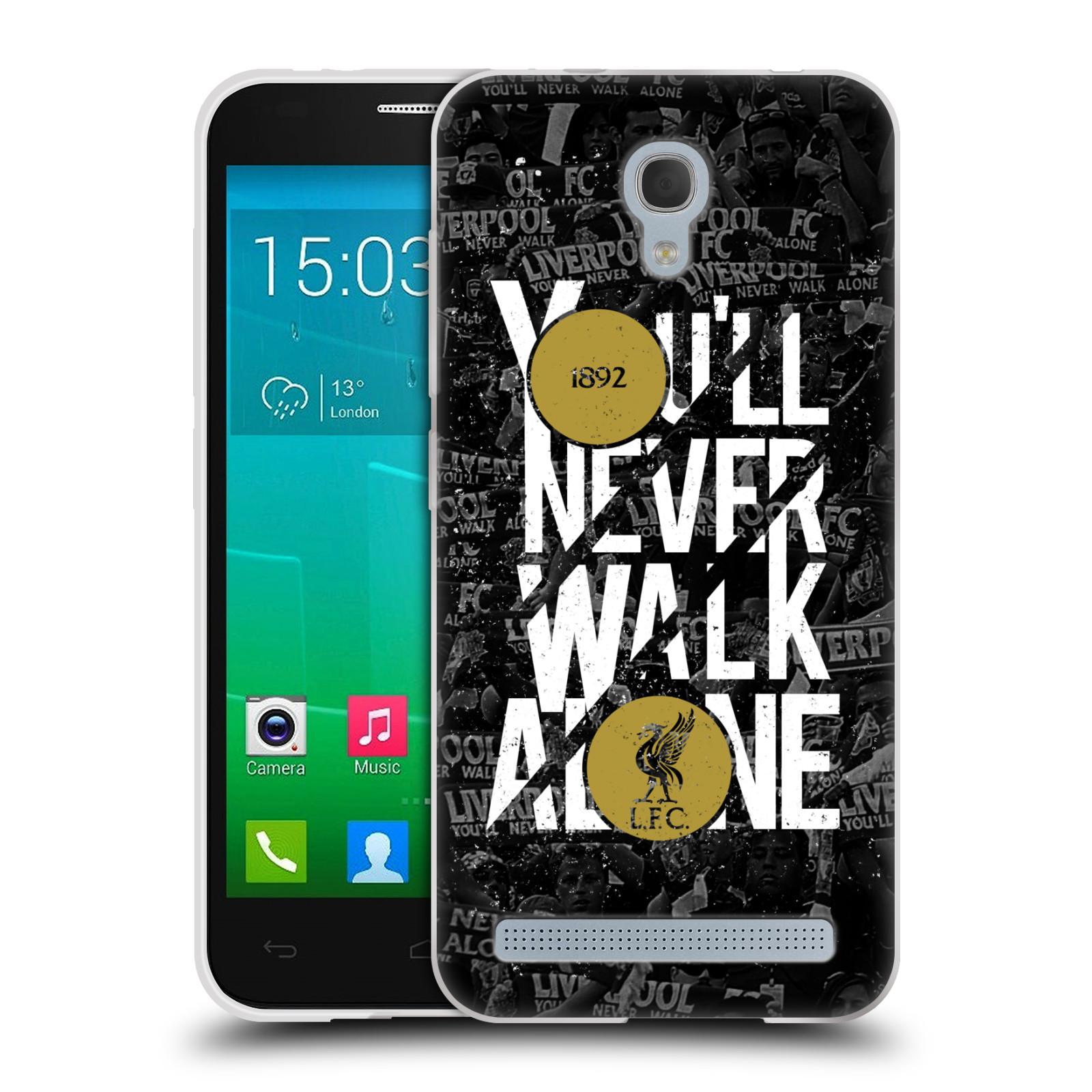 Silikonové pouzdro na mobil Alcatel One Touch Idol 2 Mini S 6036Y HEAD CASE 1892 LFC You'll Never Walk Alone (Silikonový kryt či obal na mobilní telefon Liverpool FC Official pro Alcatel Idol 2 Mini S OT-6036Y)