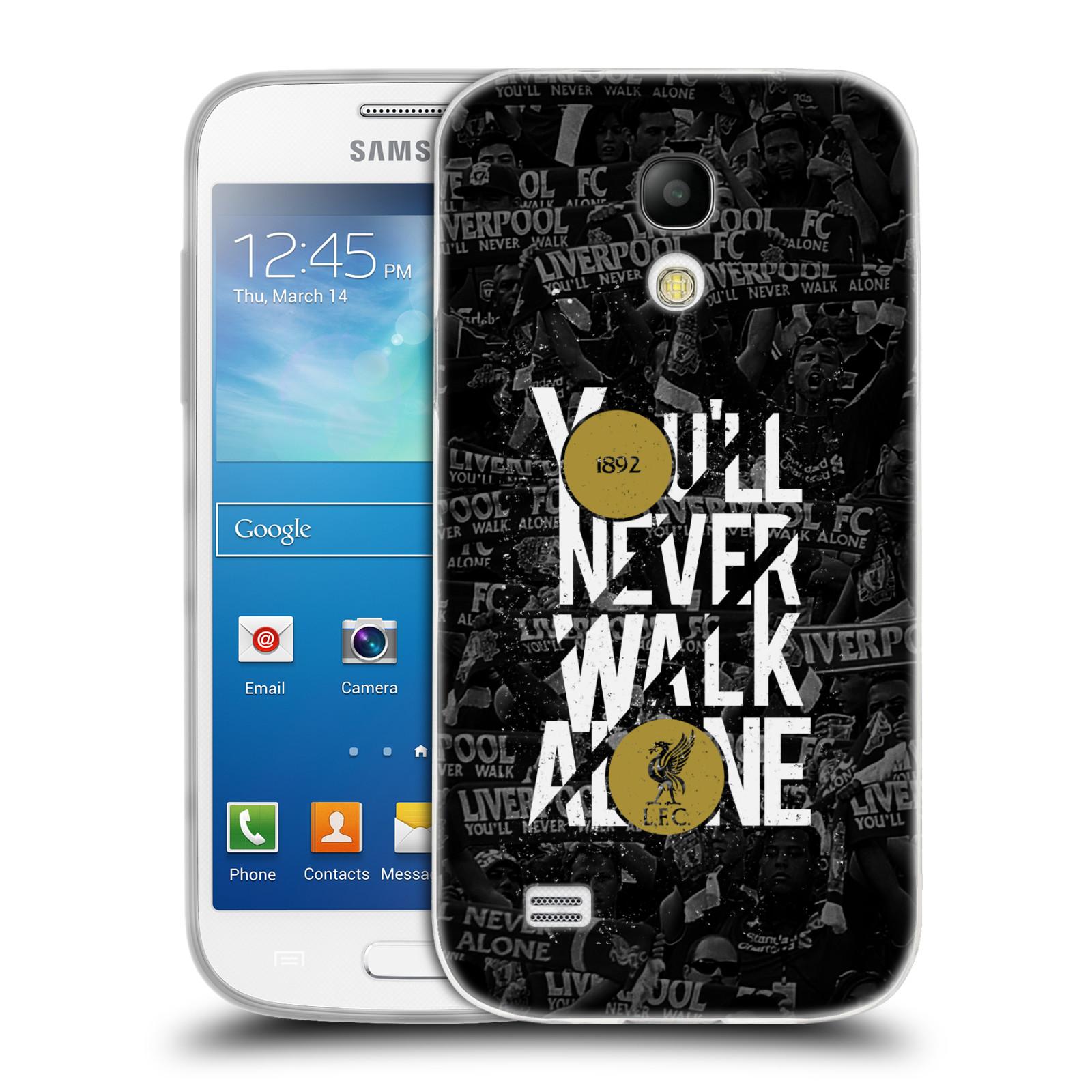 Silikonové pouzdro na mobil Samsung Galaxy S4 Mini VE HEAD CASE 1892 LFC You'll Never Walk Alone (Silikonový kryt či obal na mobilní telefon Liverpool FC Official pro Samsung Galaxy S4 Mini VE GT-i9195i)