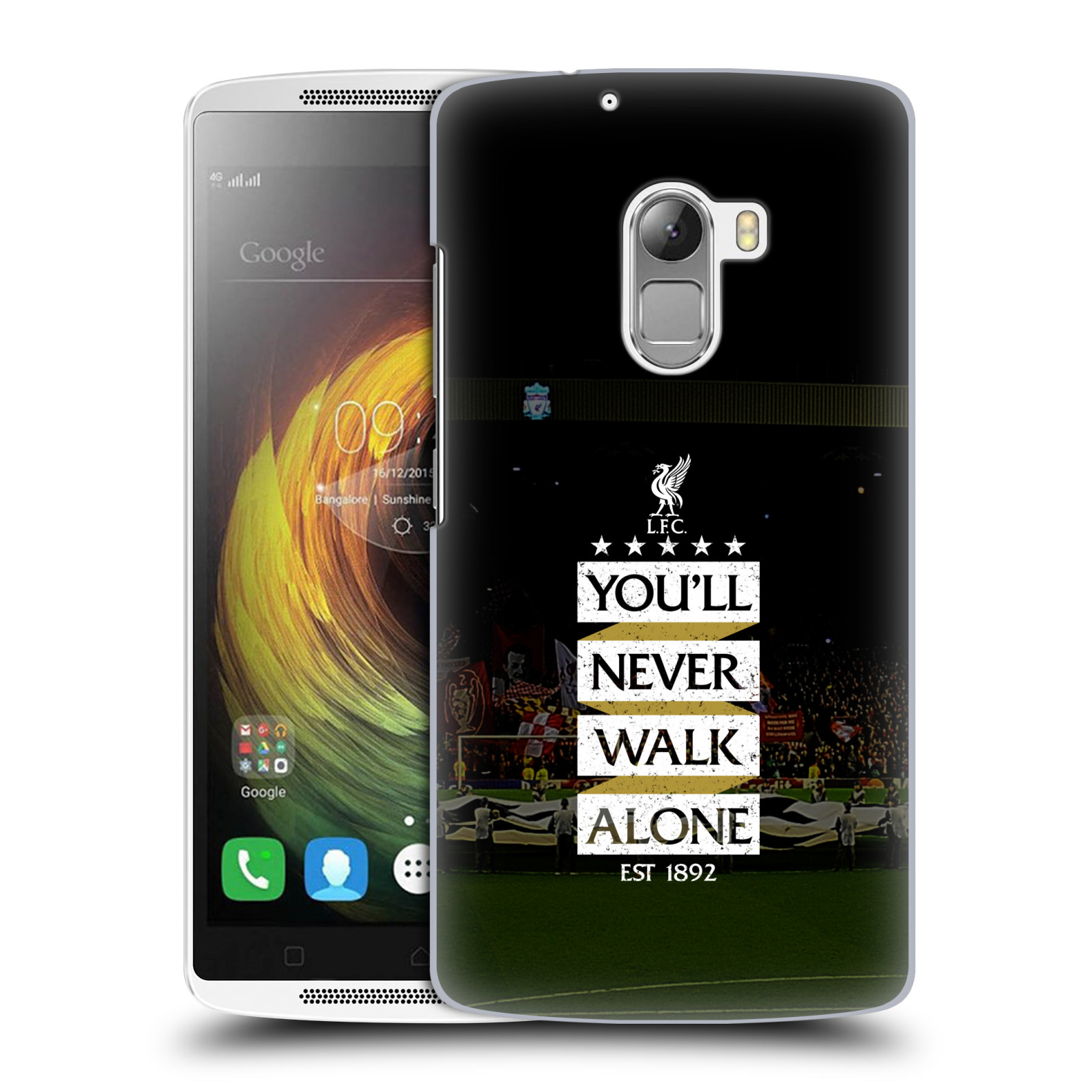 Plastové pouzdro na mobil Lenovo A7010 HEAD CASE LFC You'll Never Walk Alone