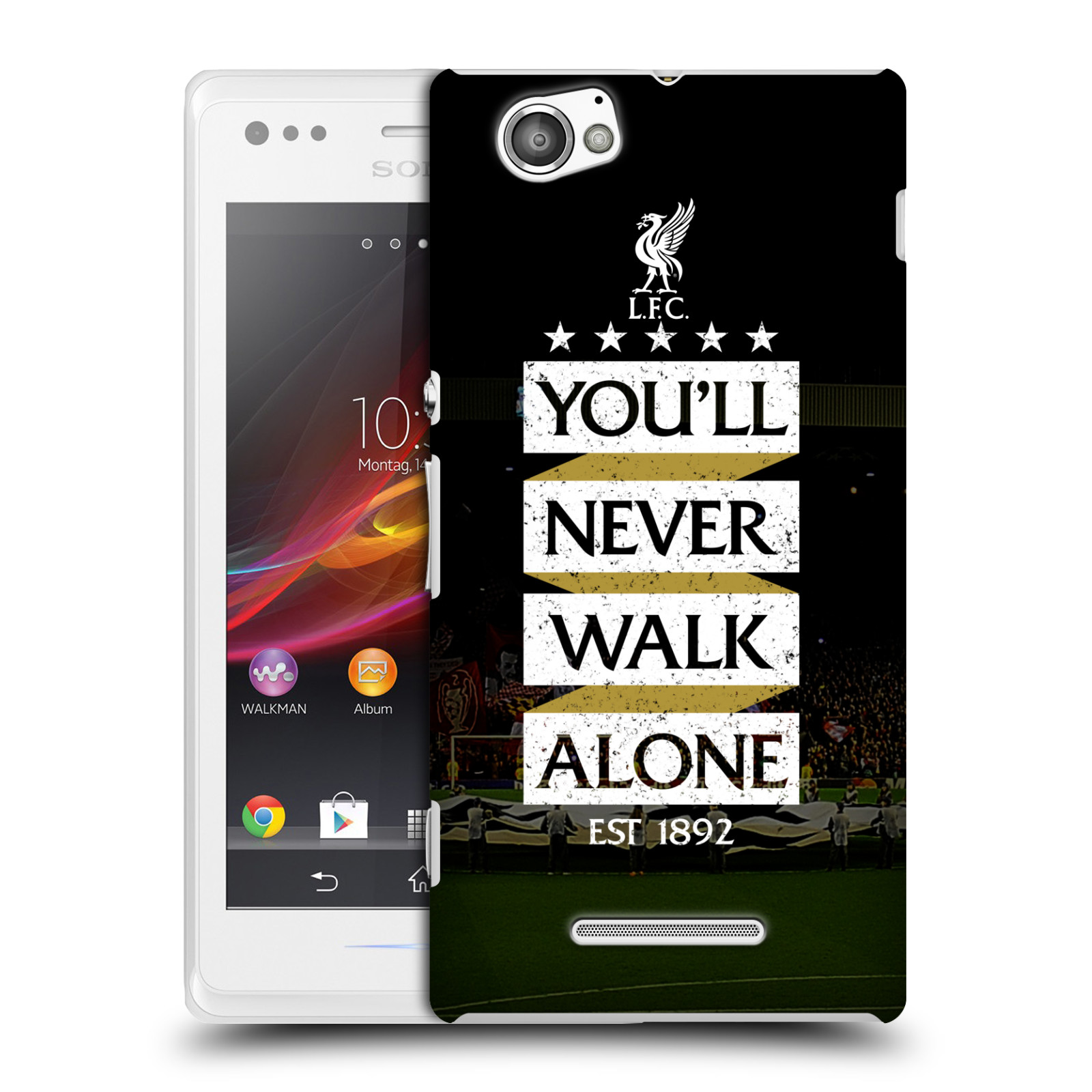 Plastové pouzdro na mobil Sony Xperia M C1905 HEAD CASE LFC You'll Never Walk Alone