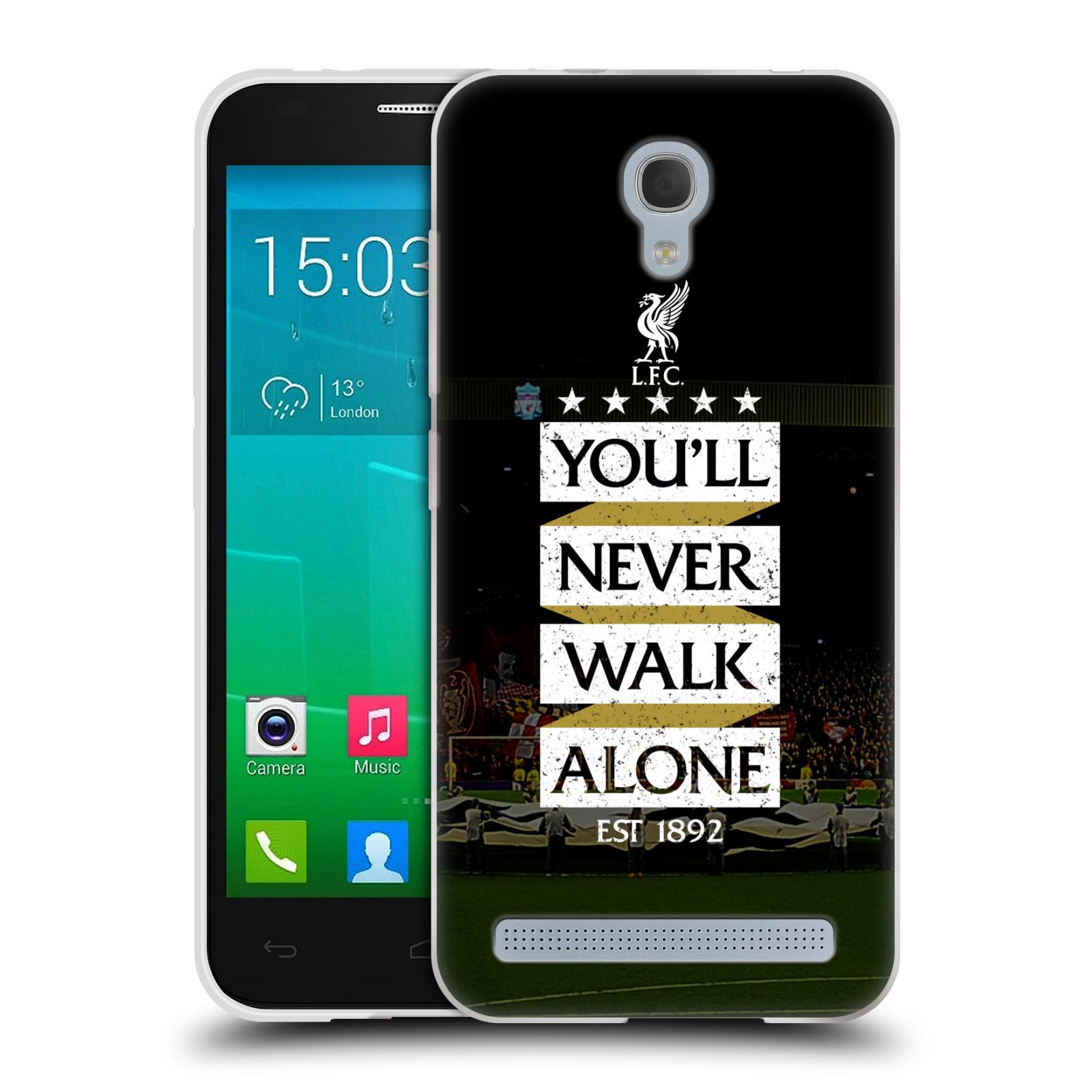 Silikonové pouzdro na mobil Alcatel One Touch Idol 2 Mini S 6036Y HEAD CASE LFC You'll Never Walk Alone (Silikonový kryt či obal na mobilní telefon Liverpool FC Official pro Alcatel Idol 2 Mini S OT-6036Y)