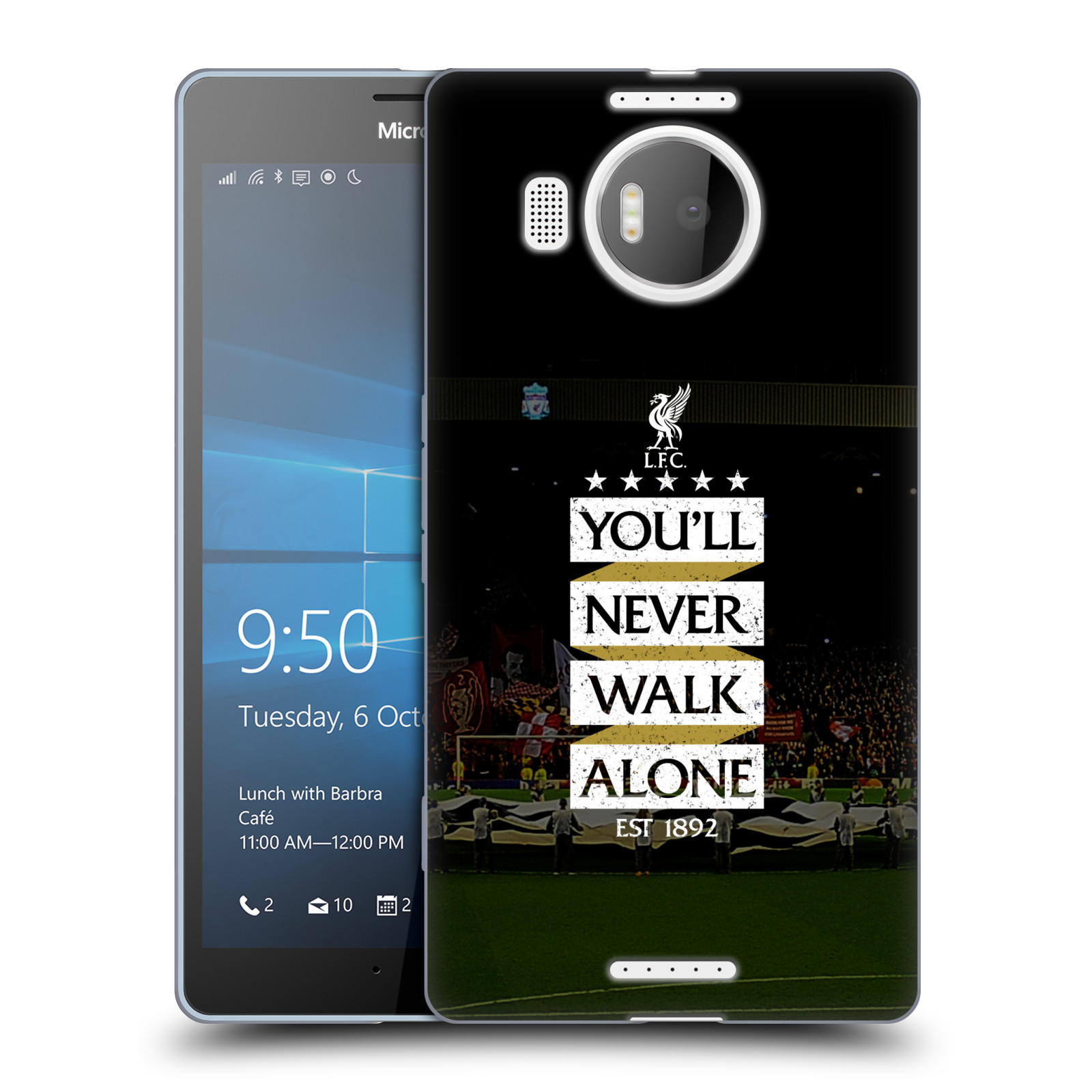 Silikonové pouzdro na mobil Microsoft Lumia 950 XL HEAD CASE LFC You'll Never Walk Alone