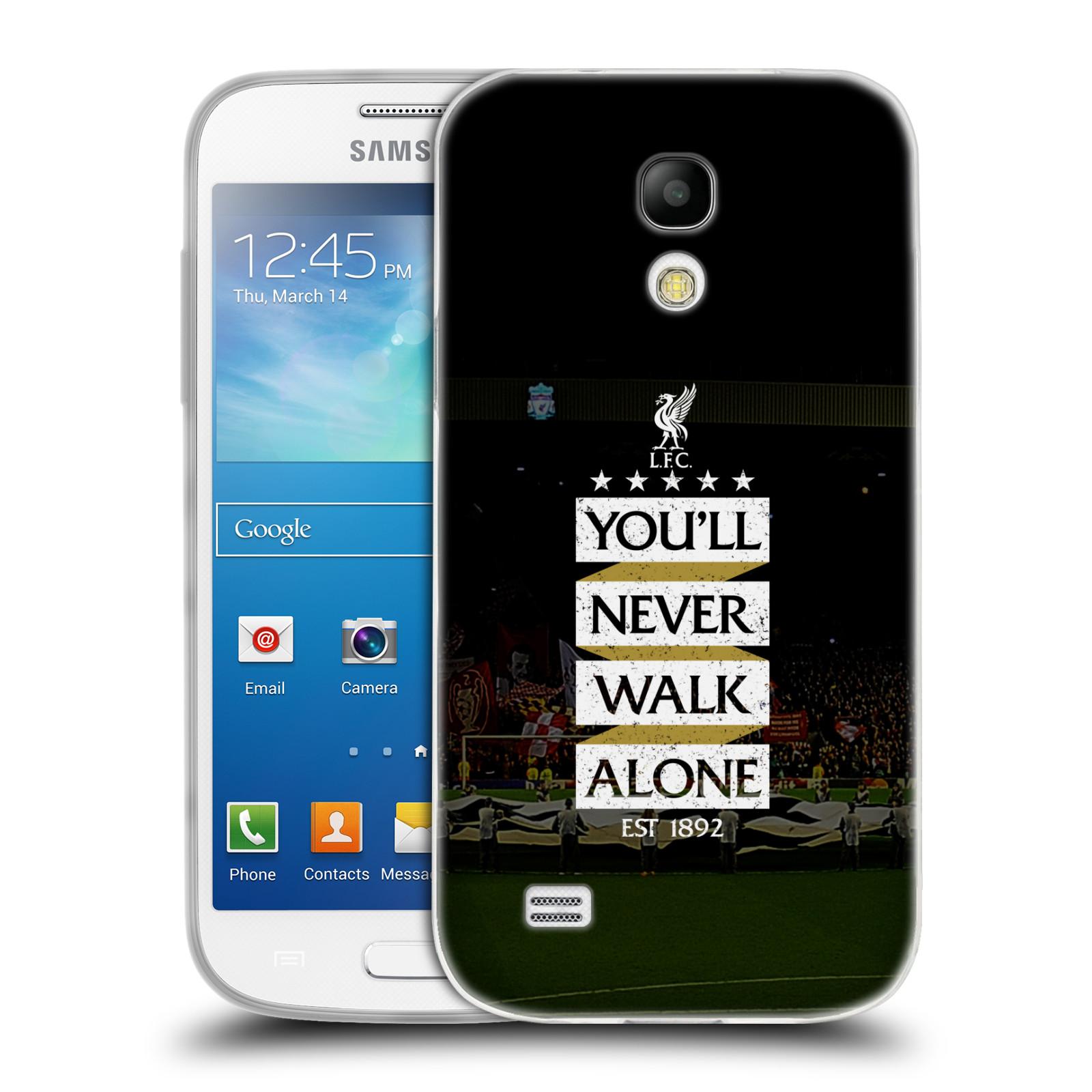 Silikonové pouzdro na mobil Samsung Galaxy S4 Mini VE HEAD CASE LFC You'll Never Walk Alone (Silikonový kryt či obal na mobilní telefon Liverpool FC Official pro Samsung Galaxy S4 Mini VE GT-i9195i)