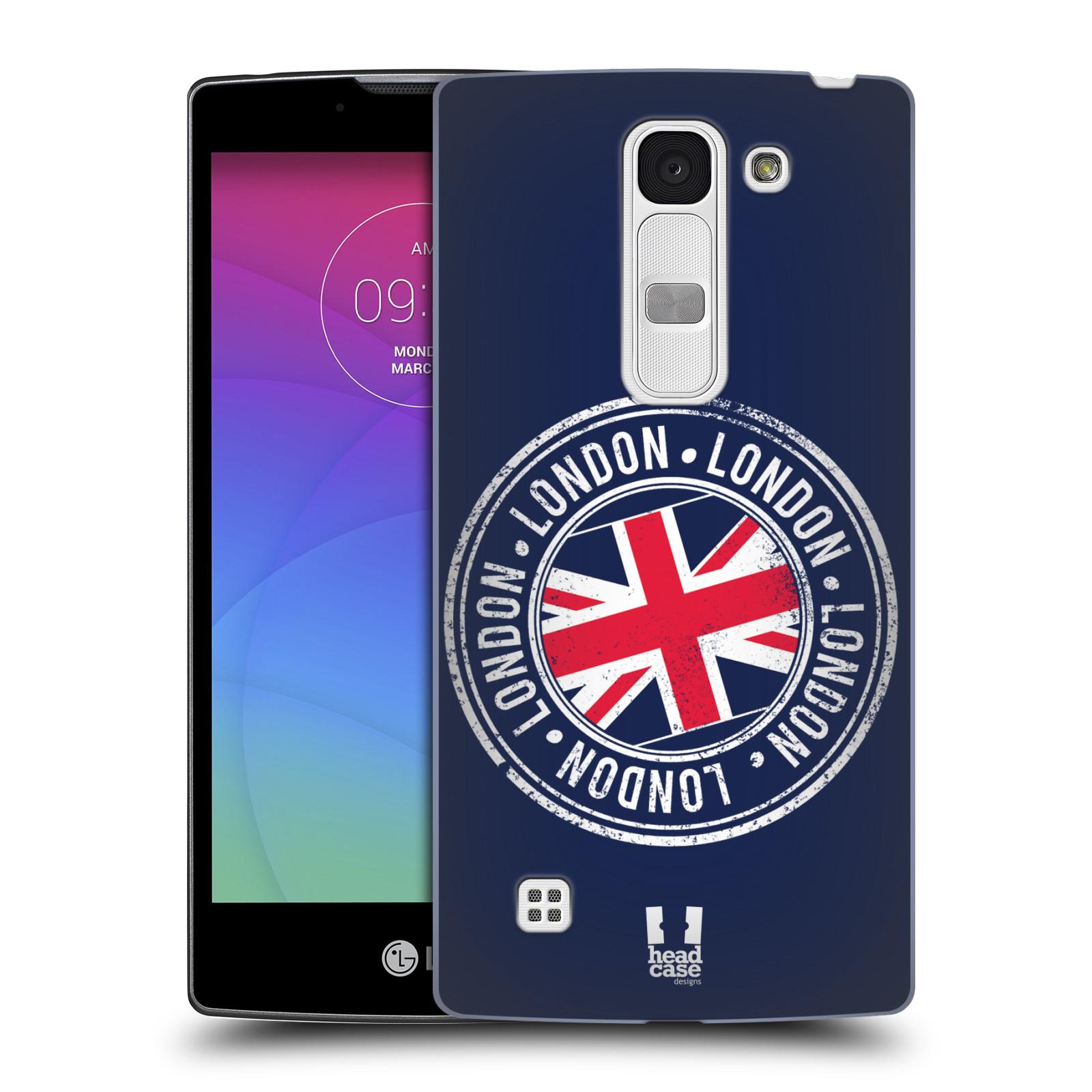 Plastové pouzdro na mobil LG Spirit LTE HEAD CASE LONDON STAMP (Kryt či obal na mobilní telefon LG Spirit H420 a LG Spirit LTE H440N)