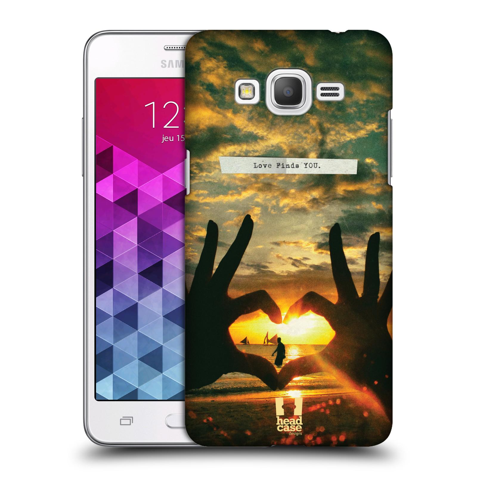Plastové pouzdro na mobil Samsung Galaxy Grand Prime VE HEAD CASE LÁSKA SI TĚ NAJDE