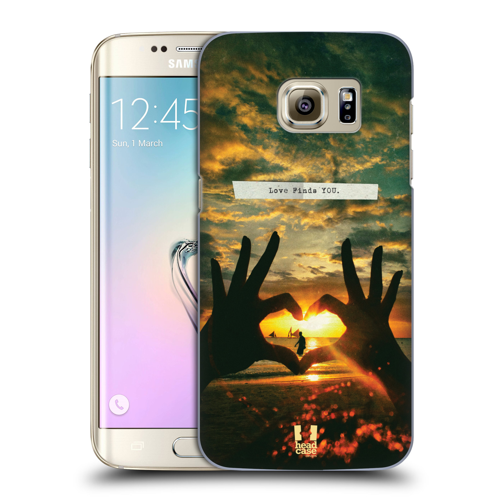 Plastové pouzdro na mobil Samsung Galaxy S7 Edge HEAD CASE LÁSKA SI TĚ NAJDE (Kryt či obal na mobilní telefon Samsung Galaxy S7 Edge SM-G935F)