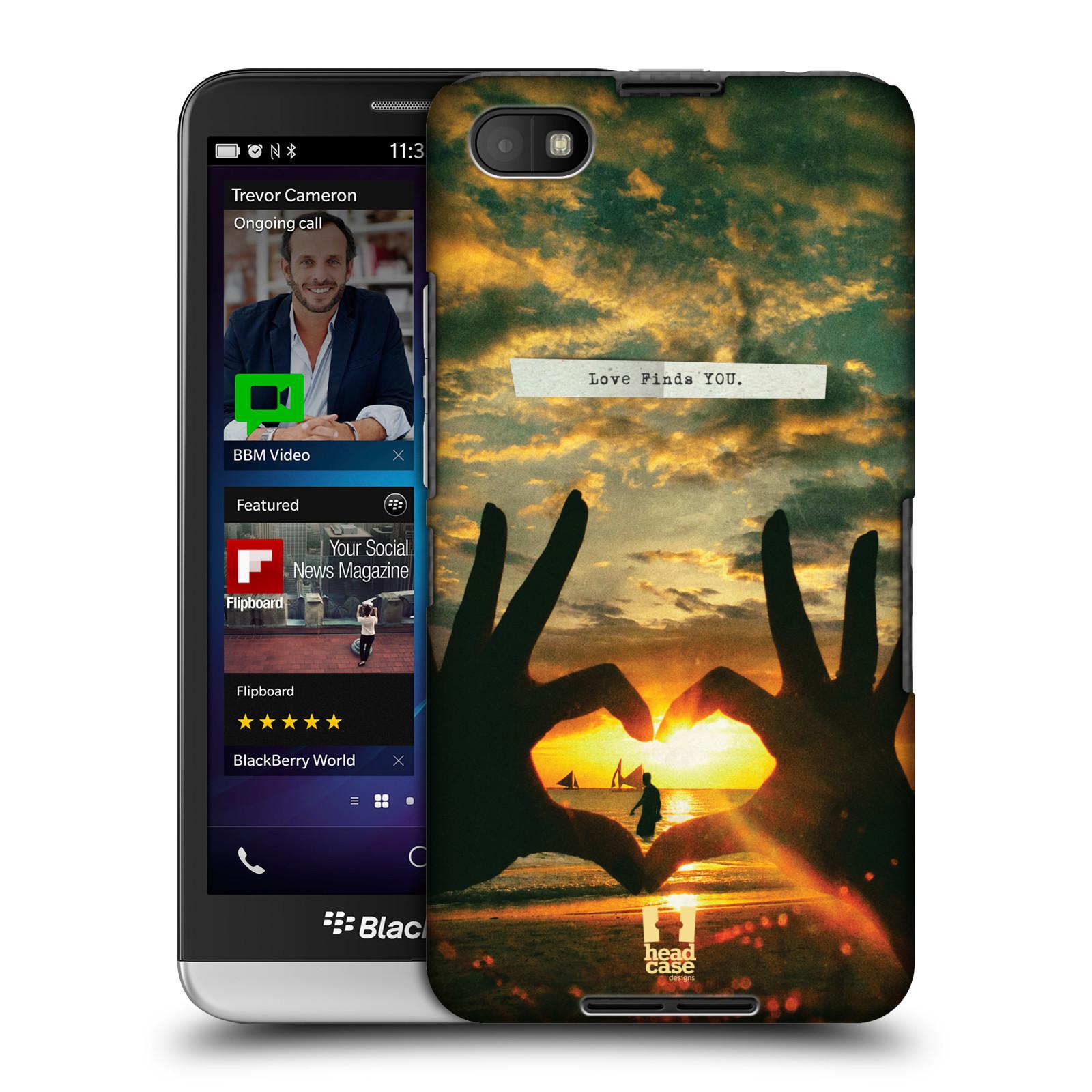 Plastové pouzdro na mobil Blackberry Z30 HEAD CASE LÁSKA SI TĚ NAJDE (Kryt či obal na mobilní telefon Blackberry Z30)