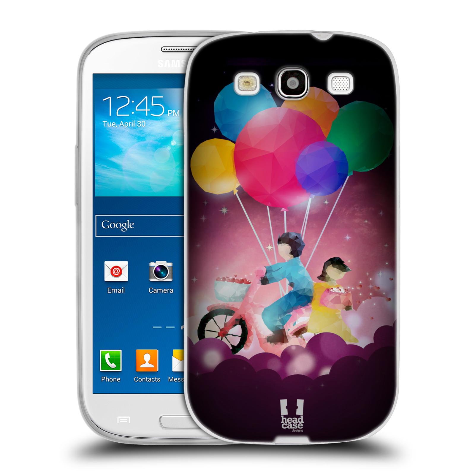 Silikonové pouzdro na mobil Samsung Galaxy S3 Neo HEAD CASE LOVE AFFLOAT COUPLE (Silikonový kryt či obal na mobilní telefon Samsung Galaxy S3 Neo GT-i9301i)