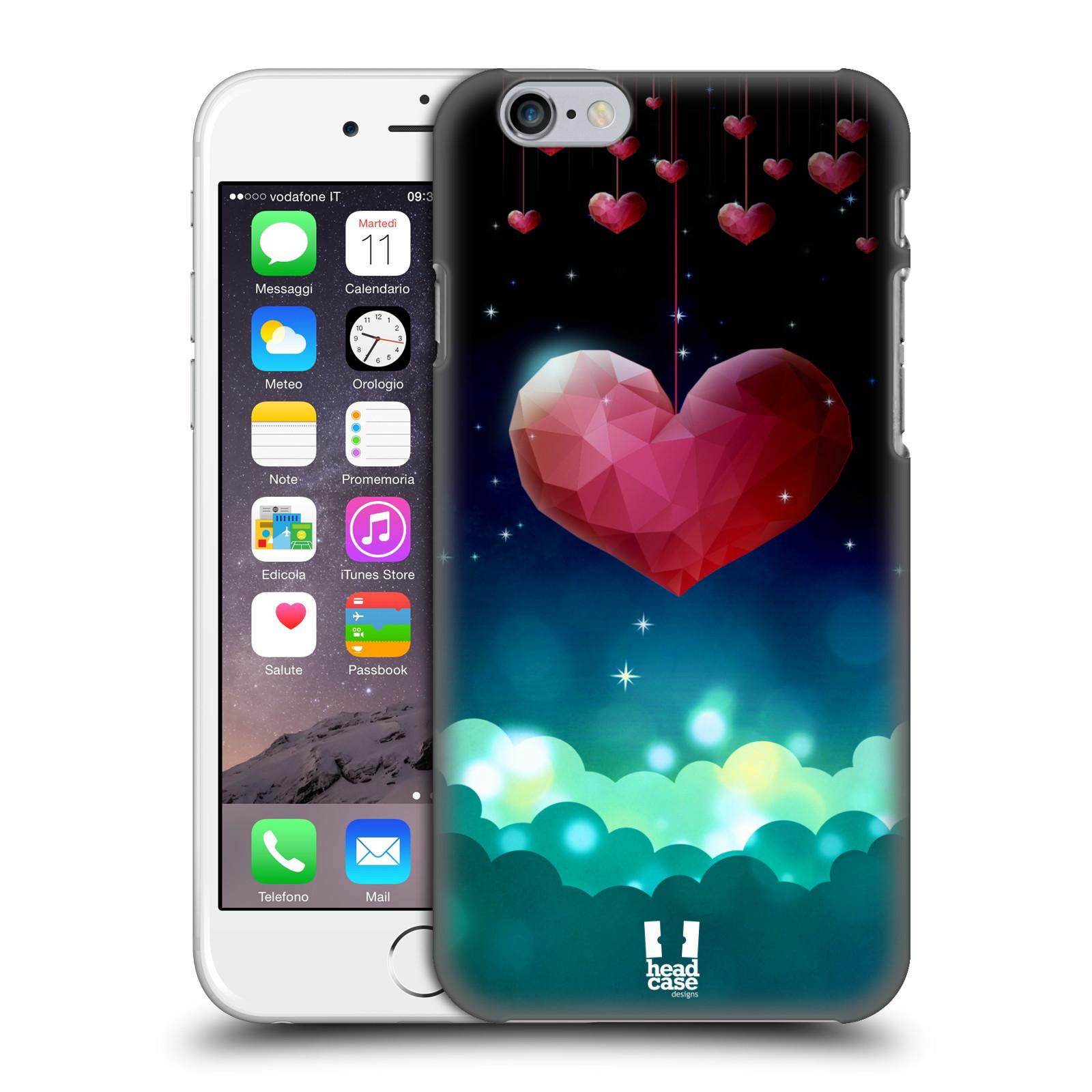 Plastové pouzdro na mobil Apple iPhone 6 a 6S HEAD CASE LOVE AFFLOAT SRDCE
