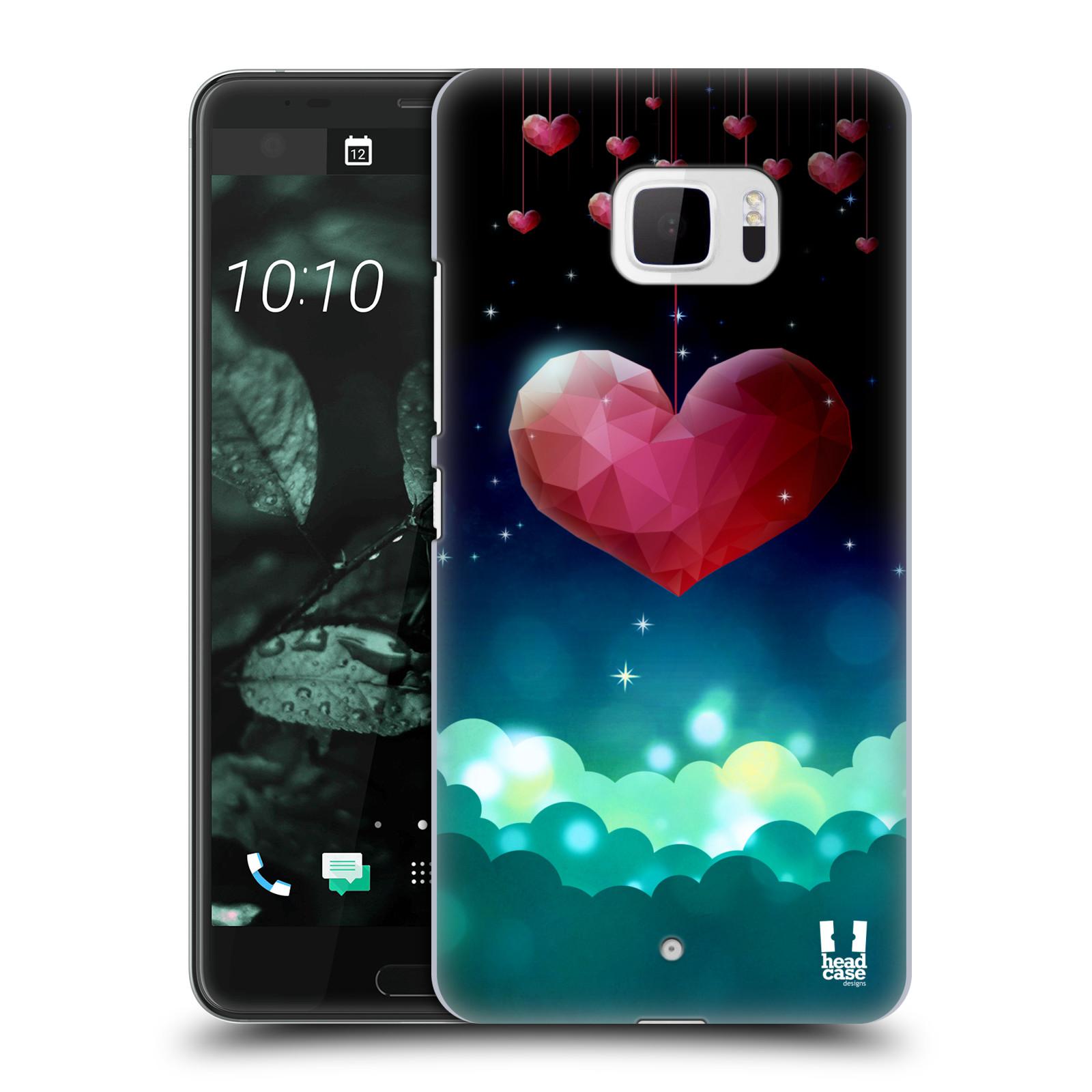 Plastové pouzdro na mobil HTC U Ultra Head Case - LOVE AFFLOAT SRDCE (Plastový kryt či obal na mobilní telefon HTC U Ultra (99HALT015-00))