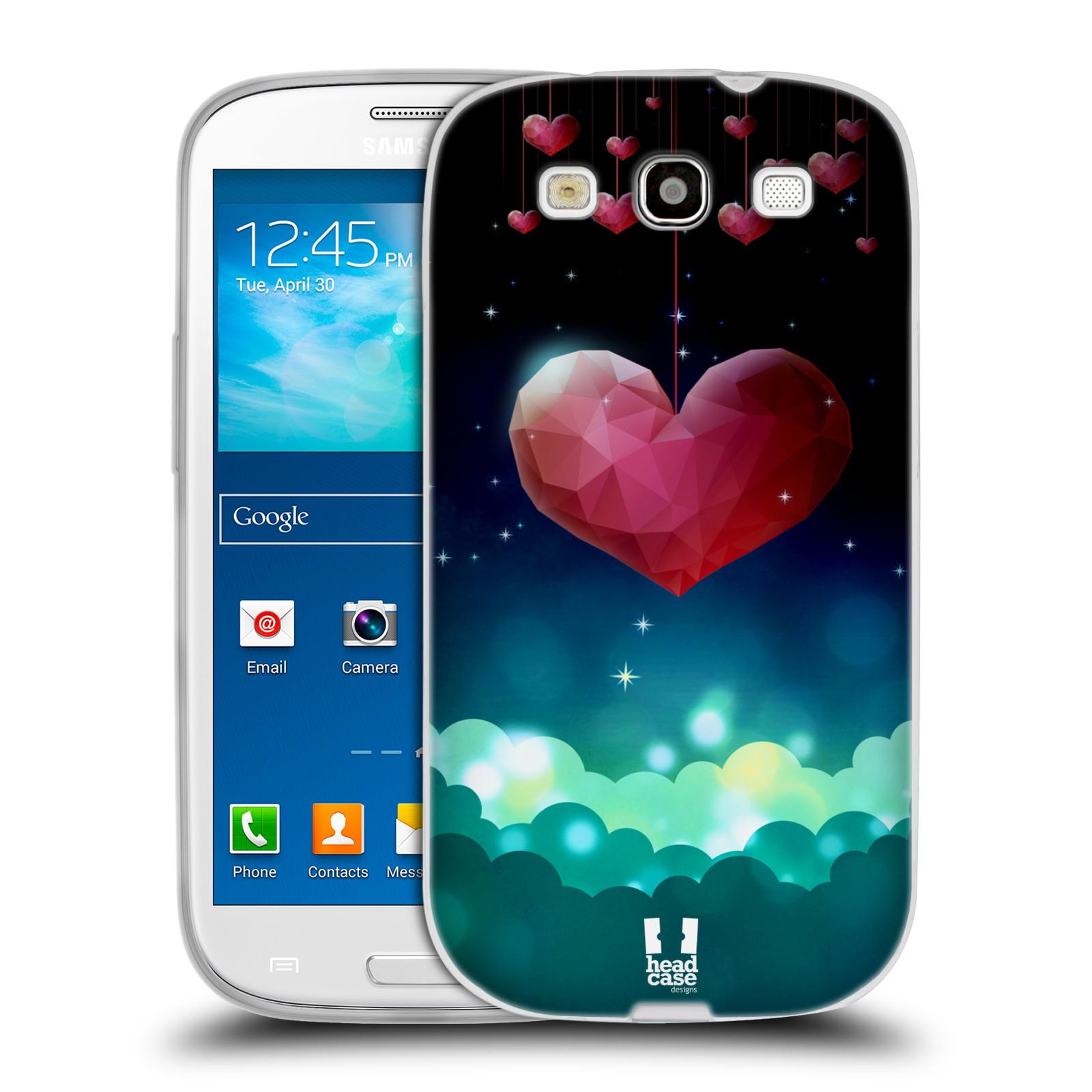 Silikonové pouzdro na mobil Samsung Galaxy S3 Neo HEAD CASE LOVE AFFLOAT SRDCE (Silikonový kryt či obal na mobilní telefon Samsung Galaxy S3 Neo GT-i9301i)