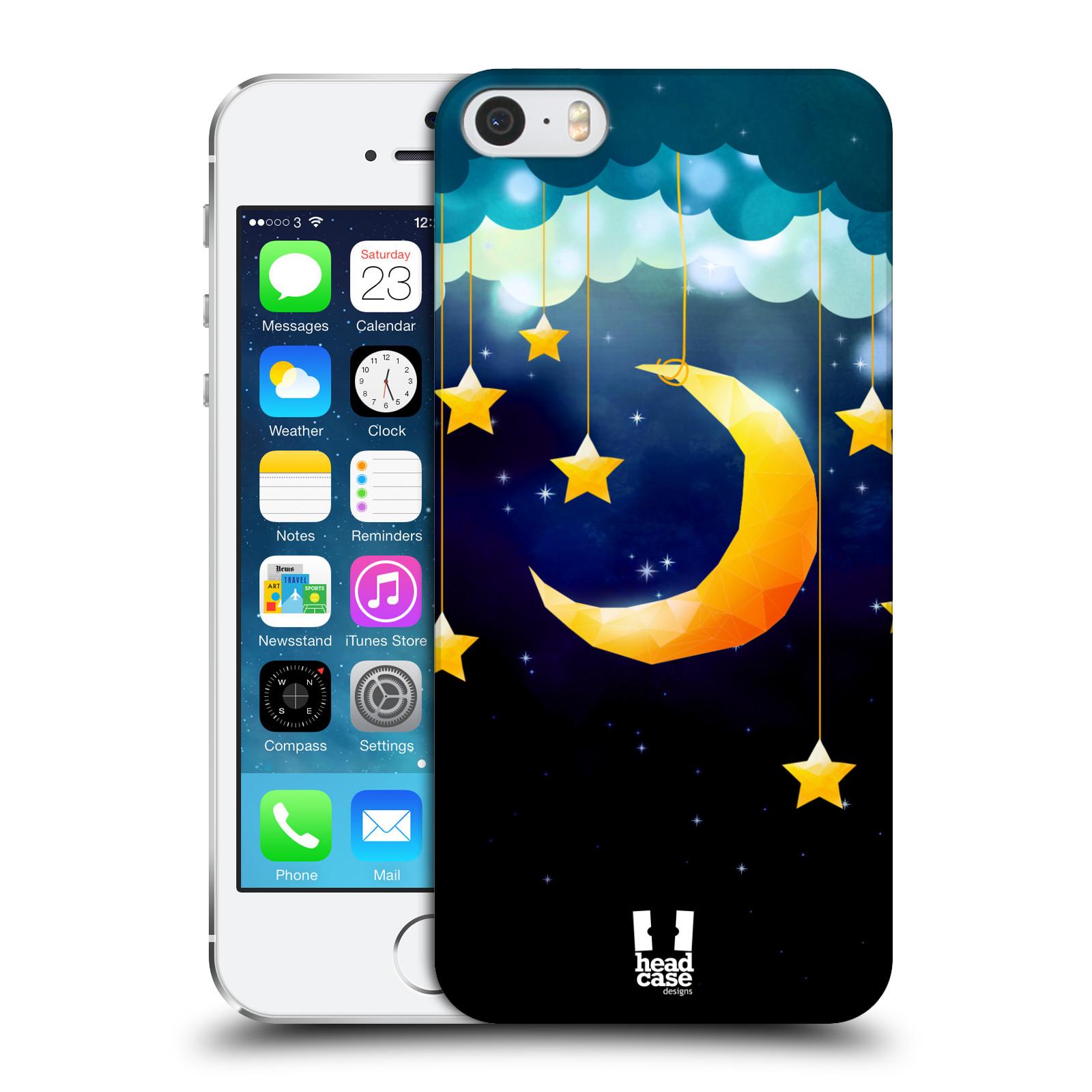 Plastové pouzdro na mobil Apple iPhone SE, 5 a 5S HEAD CASE LOVE AFFLOAT MĚSÍC