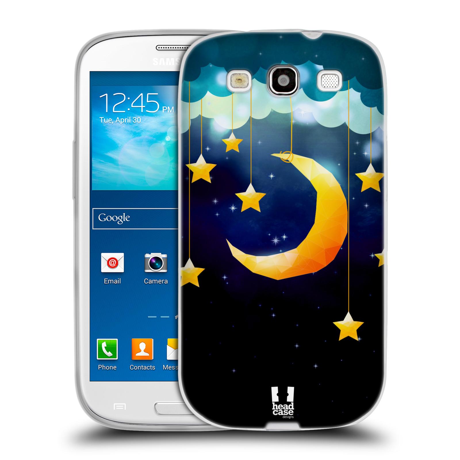 Silikonové pouzdro na mobil Samsung Galaxy S3 Neo HEAD CASE LOVE AFFLOAT MĚSÍC (Silikonový kryt či obal na mobilní telefon Samsung Galaxy S3 Neo GT-i9301i)