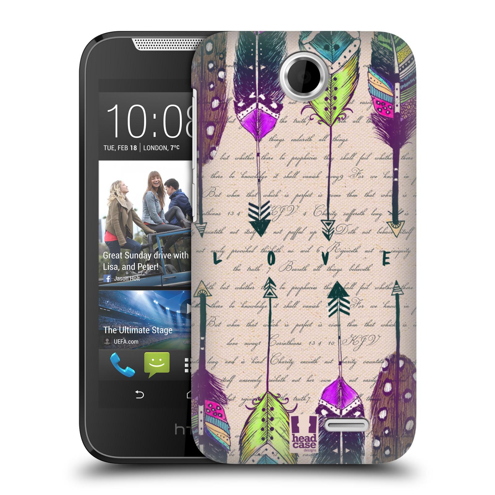 Plastové pouzdro na mobil HTC Desire 310 HEAD CASE PÍRKA LOVE (Kryt či obal na mobilní telefon HTC Desire 310)
