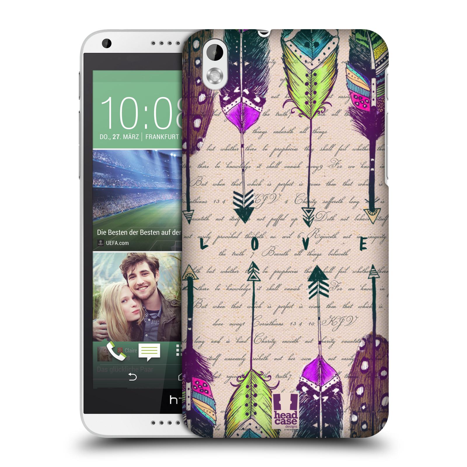 Plastové pouzdro na mobil HTC Desire 816 HEAD CASE PÍRKA LOVE (Kryt či obal na mobilní telefon HTC Desire 816)