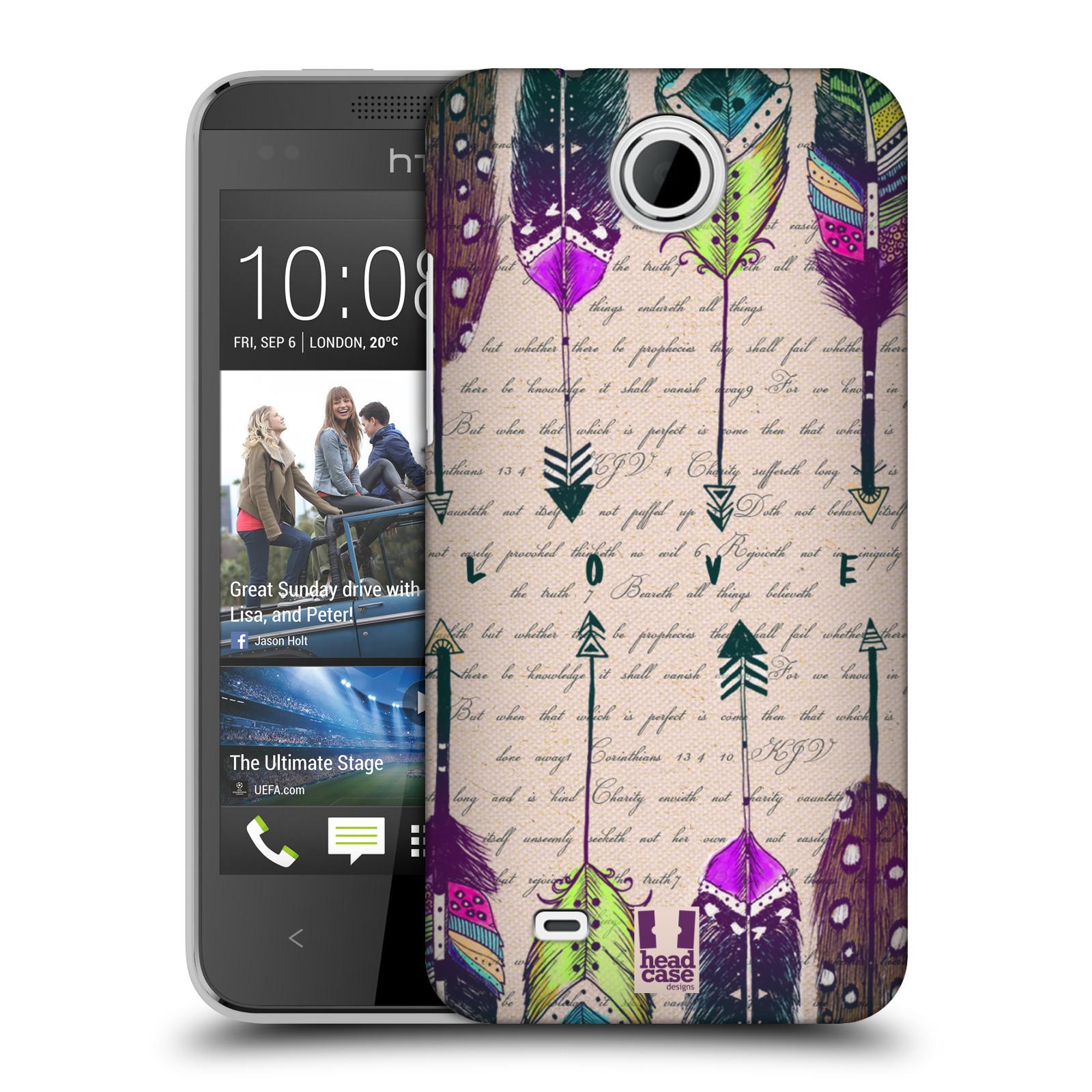 Plastové pouzdro na mobil HTC Desire 300 HEAD CASE PÍRKA LOVE (Kryt či obal na mobilní telefon HTC Desire 300)