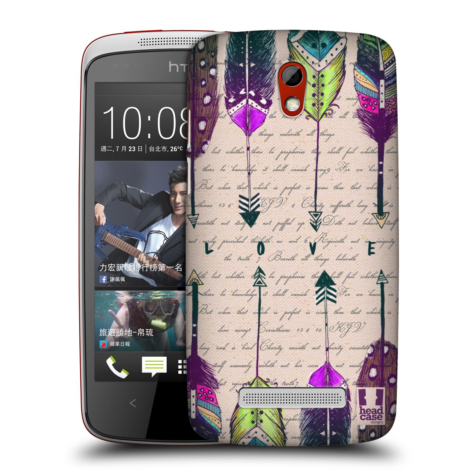 Plastové pouzdro na mobil HTC Desire 500 HEAD CASE PÍRKA LOVE (Kryt či obal na mobilní telefon HTC Desire 500)