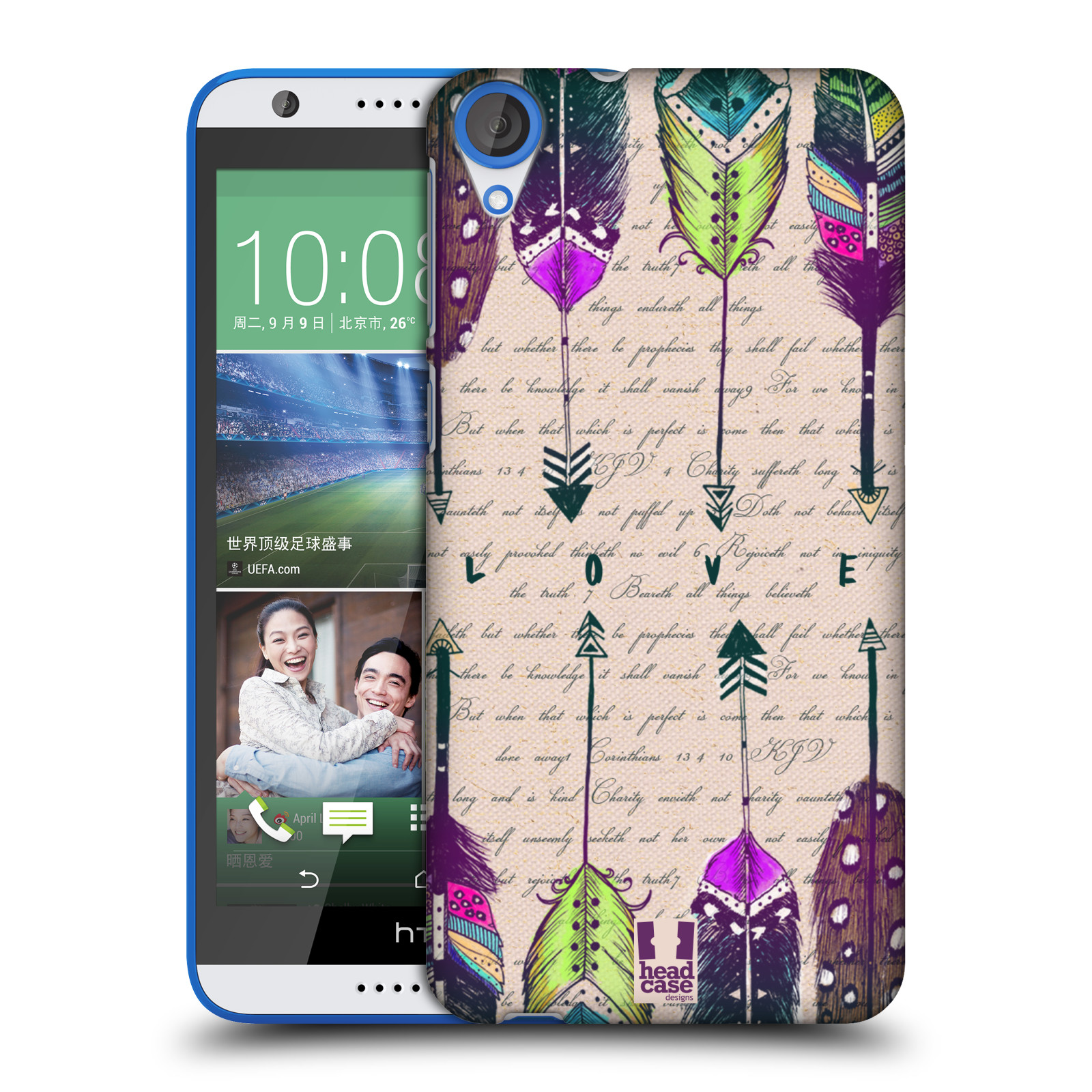 Plastové pouzdro na mobil HTC Desire 820 HEAD CASE PÍRKA LOVE (Kryt či obal na mobilní telefon HTC Desire 820)