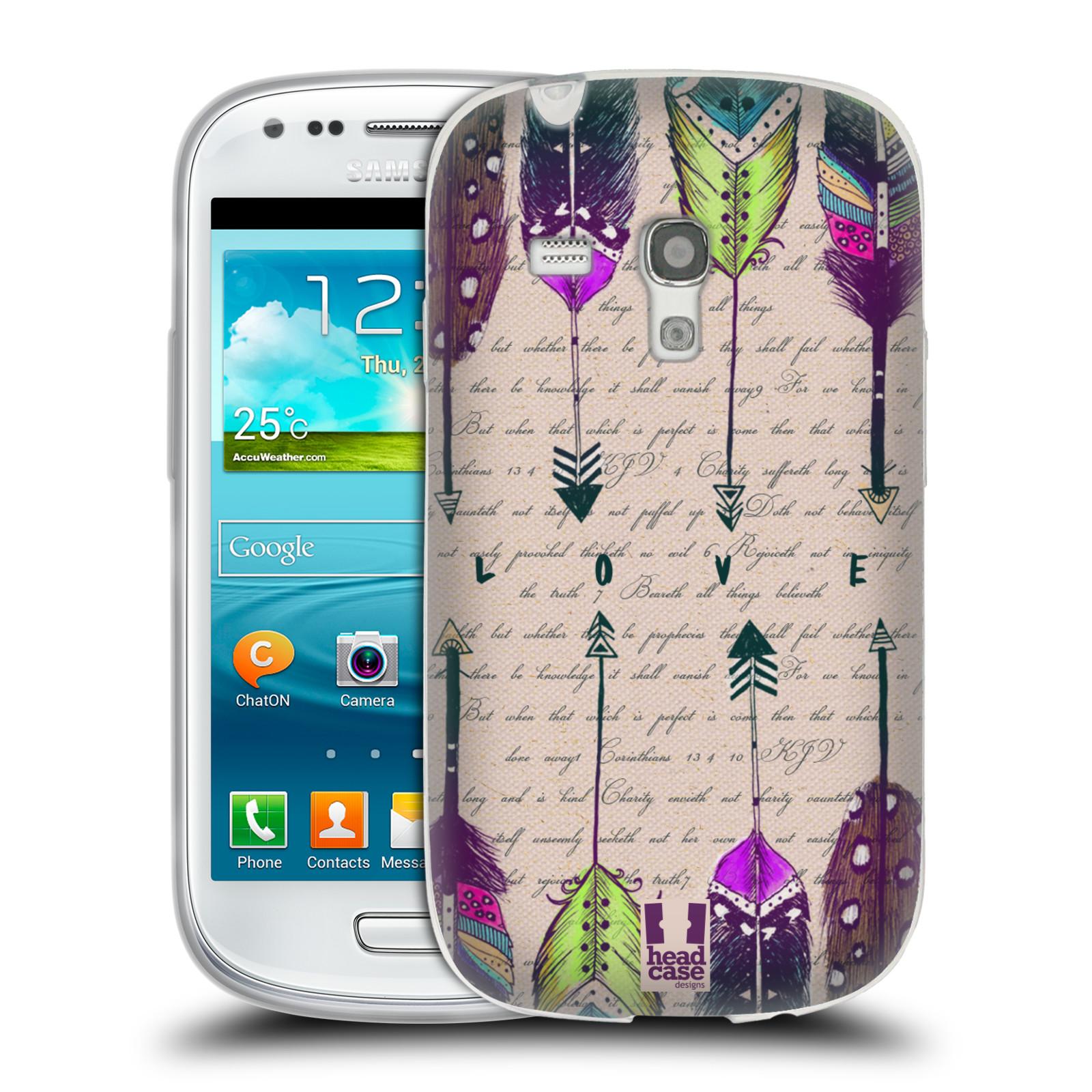 Silikonové pouzdro na mobil Samsung Galaxy S III Mini HEAD CASE PÍRKA LOVE (Silikonový kryt či obal na mobilní telefon Samsung Galaxy S III Mini GT-i8190)
