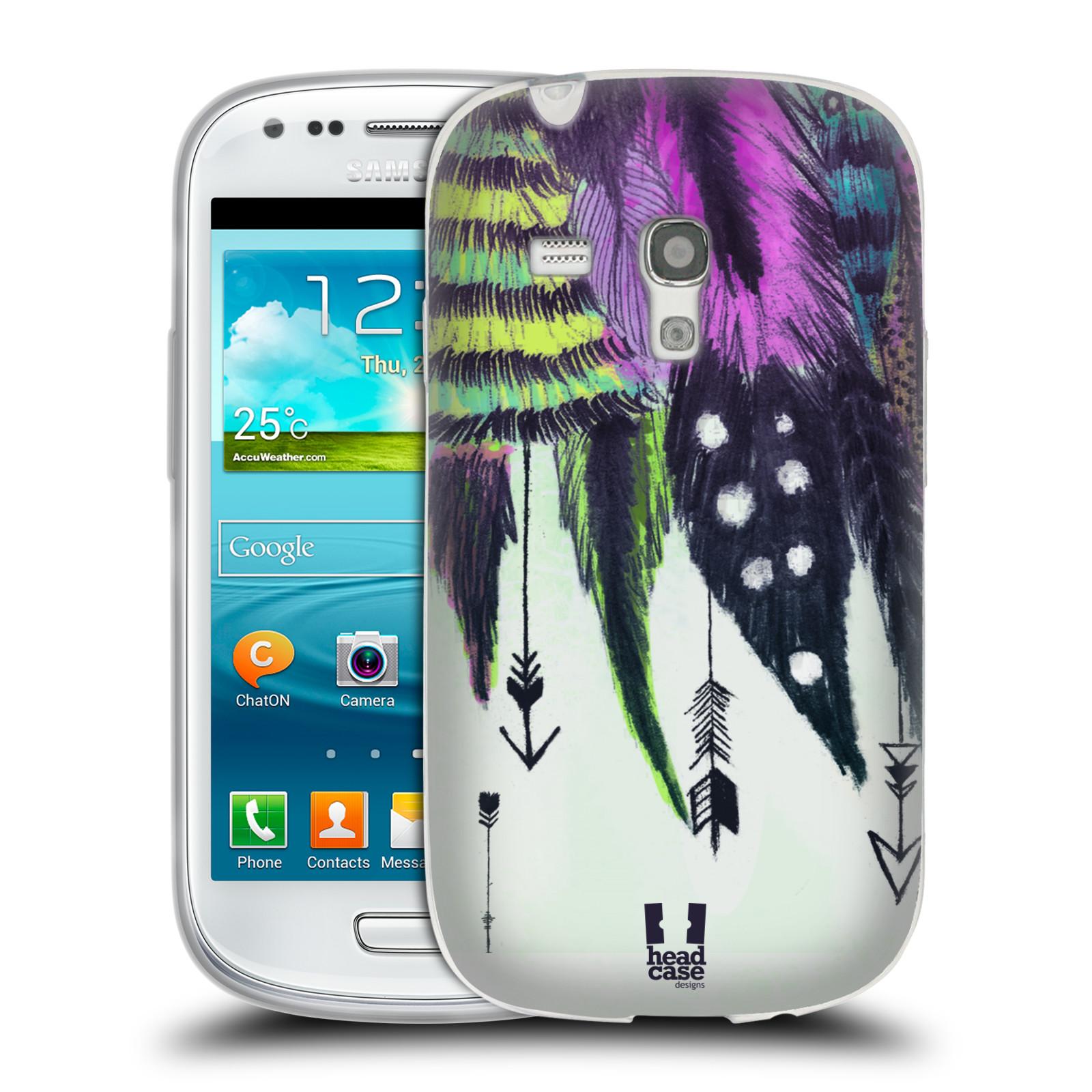 Silikonové pouzdro na mobil Samsung Galaxy S III Mini HEAD CASE PÍRKA ROMANTIC (Silikonový kryt či obal na mobilní telefon Samsung Galaxy S III Mini GT-i8190)