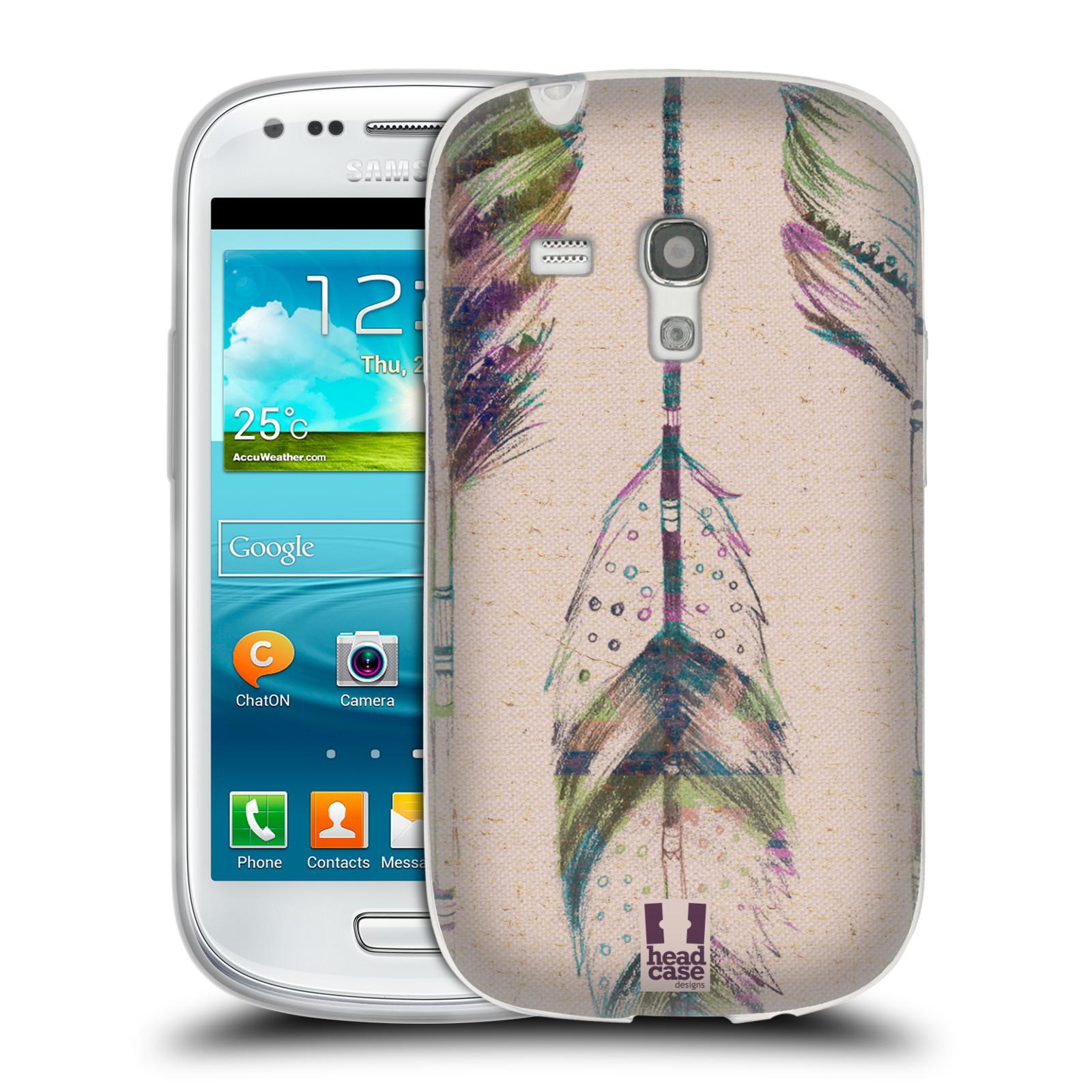 Silikonové pouzdro na mobil Samsung Galaxy S III Mini HEAD CASE PÍRKA VINTAGE (Silikonový kryt či obal na mobilní telefon Samsung Galaxy S III Mini GT-i8190)
