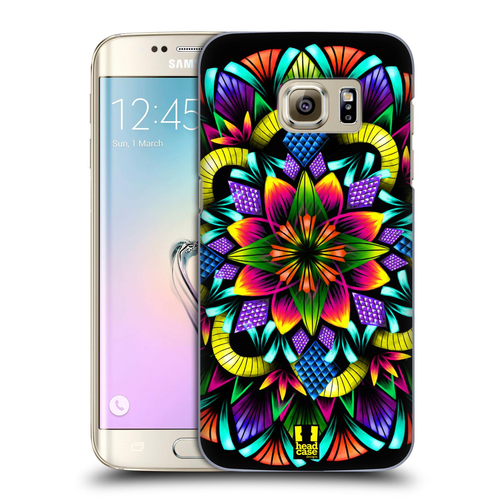 Plastové pouzdro na mobil Samsung Galaxy S7 Edge HEAD CASE Květina mandala (Kryt či obal na mobilní telefon Samsung Galaxy S7 Edge SM-G935F)